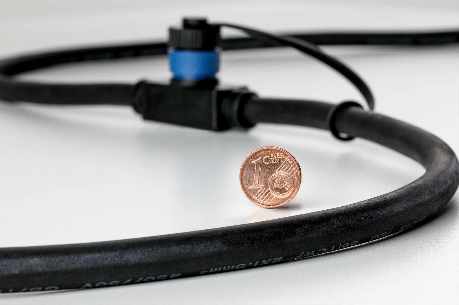 Plug & Shine Kabel 1m 3 Ausgänge IP68 Schwarz