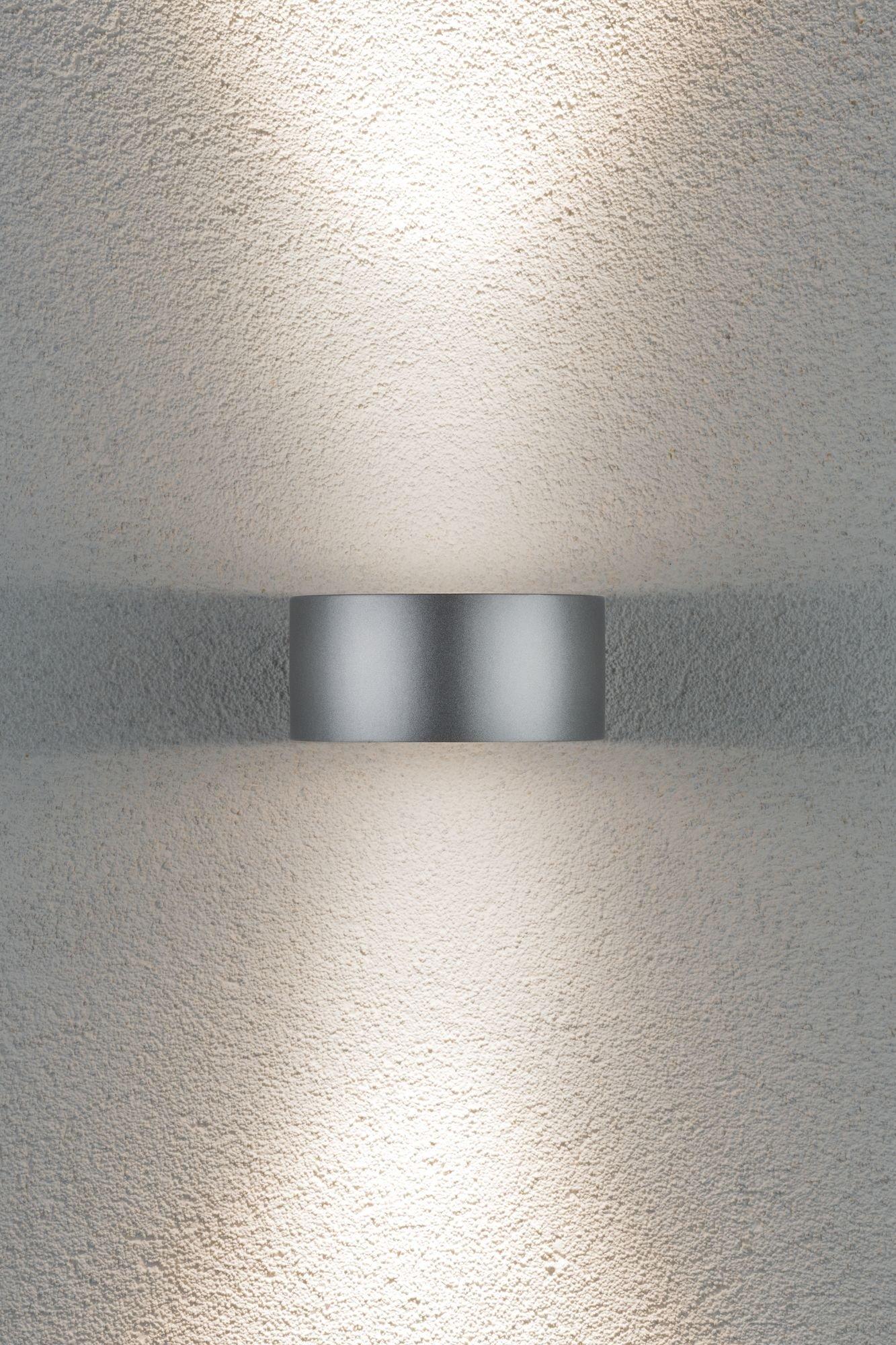 House wandlamp Cone IP44 3000K 2x6W zilver/ antraciet