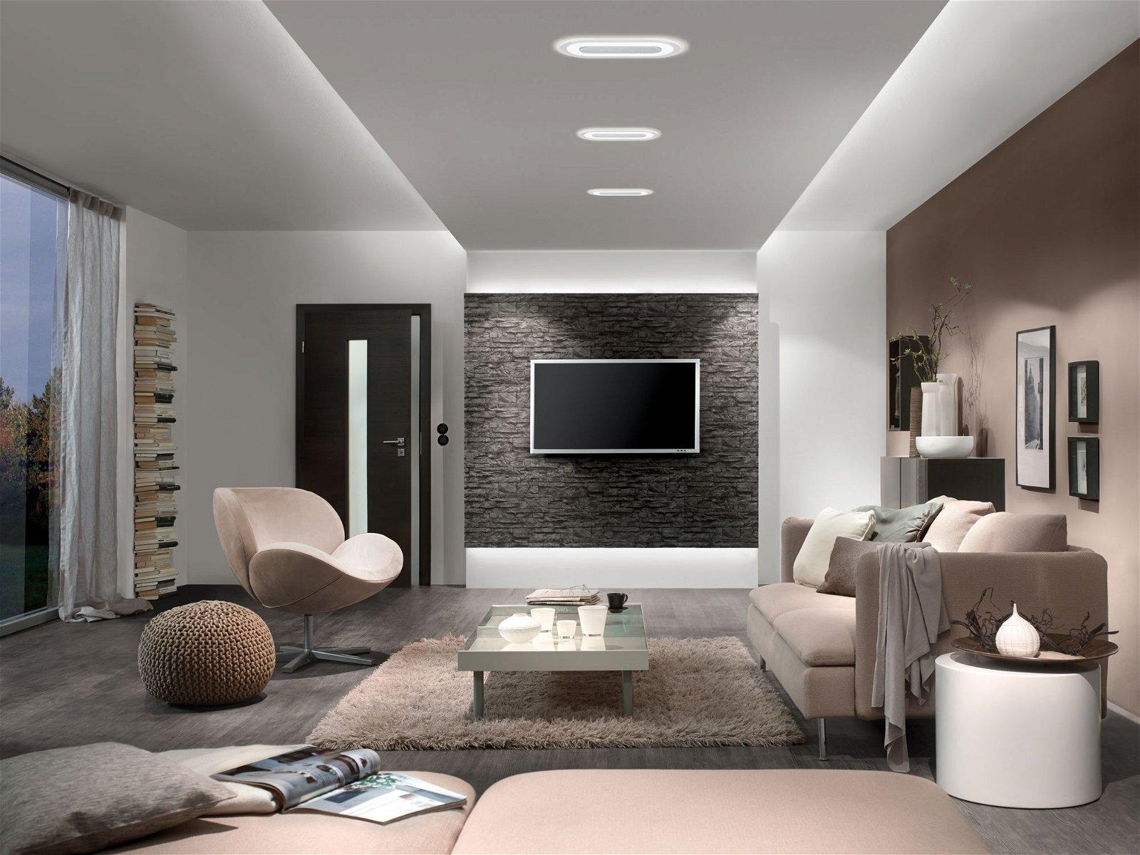 Premium Spot encastré LED Whirl Luminaire individuel rond 230x115mm 8W 680lm 230V 3000K Alu tourné/Satiné
