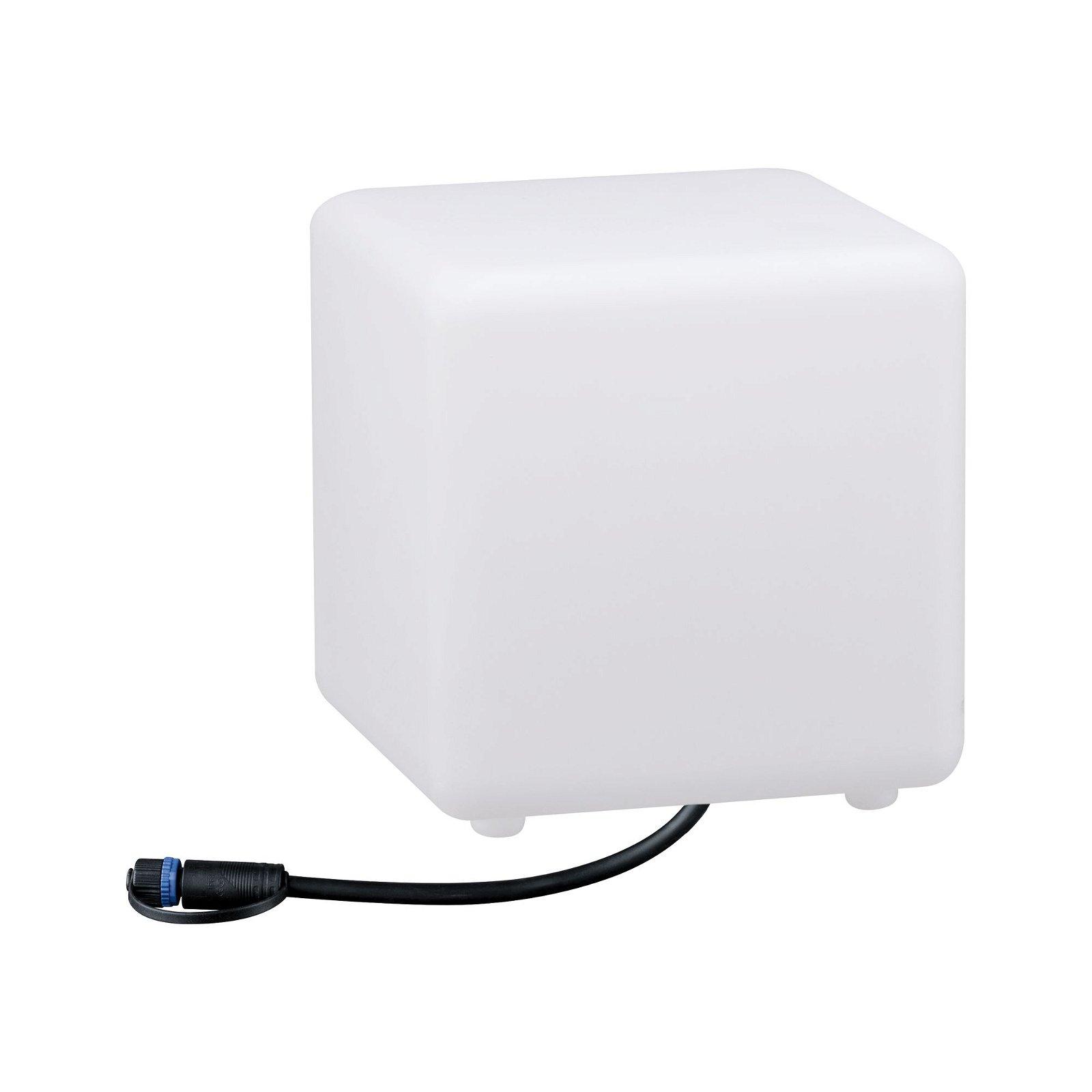 Plug & Shine Objet lumineux LED Smart Home Zigbee Cube IP65 RGBW 2,8W Blanc