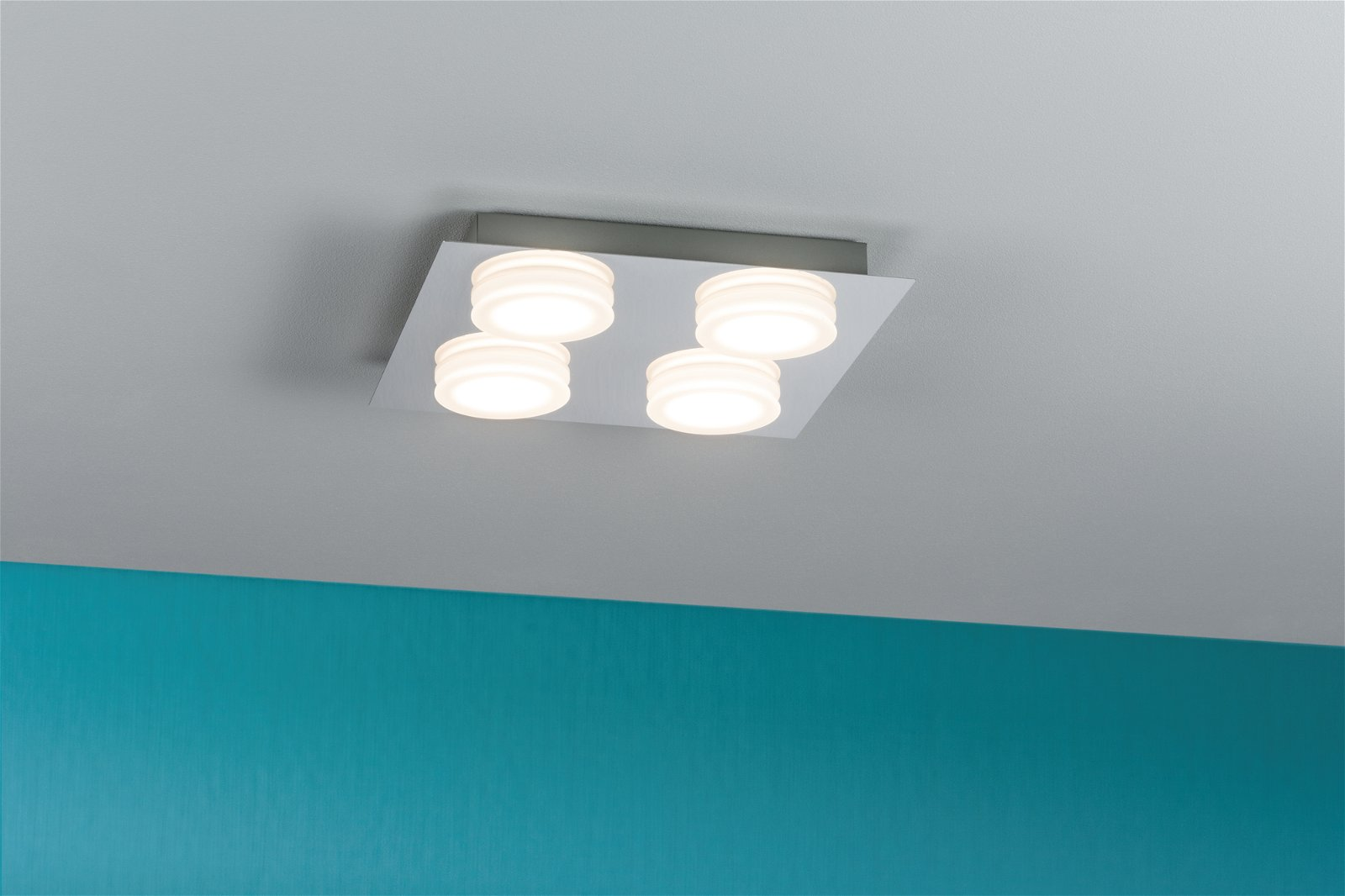 LED Deckenleuchte Doradus 3000K 4x420lm 230V 4x4,7W Chrom