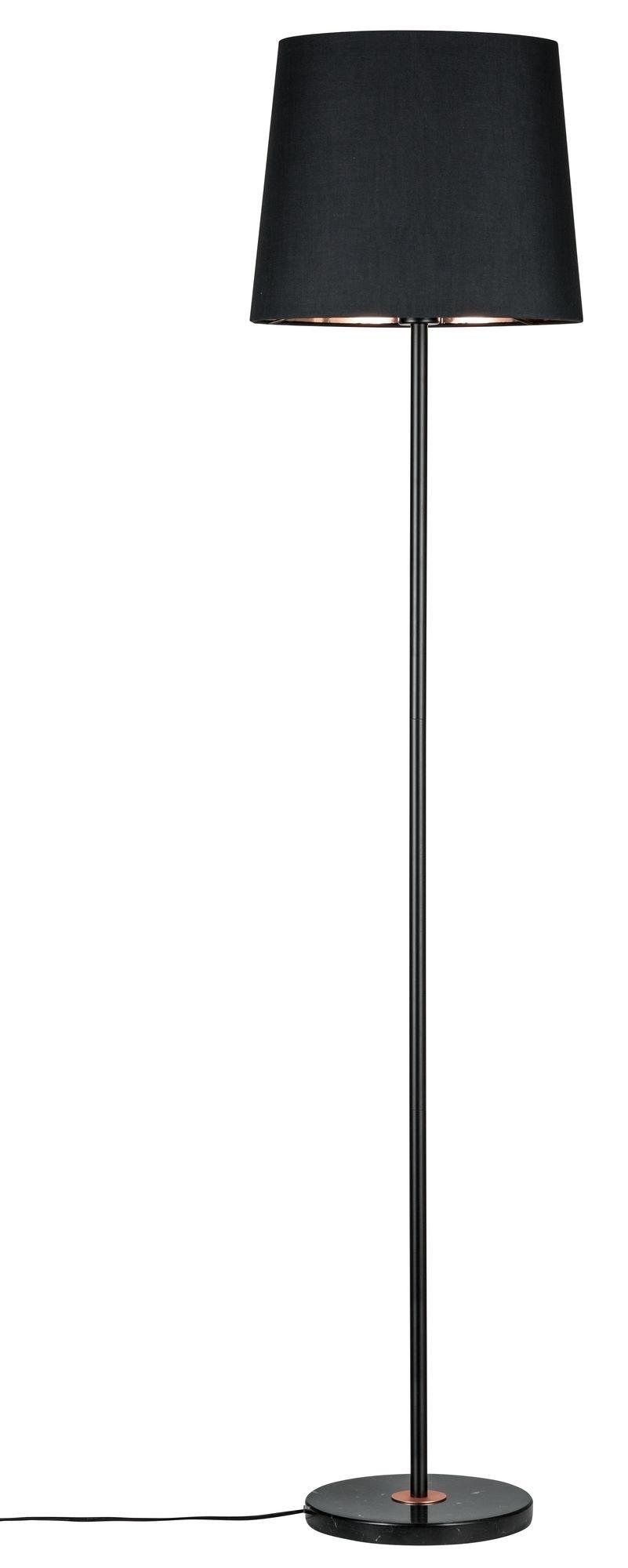 Neordic Staande lamp Enja E27 max. 20W Zwart/Koper Textiel/Marmer/Metaal