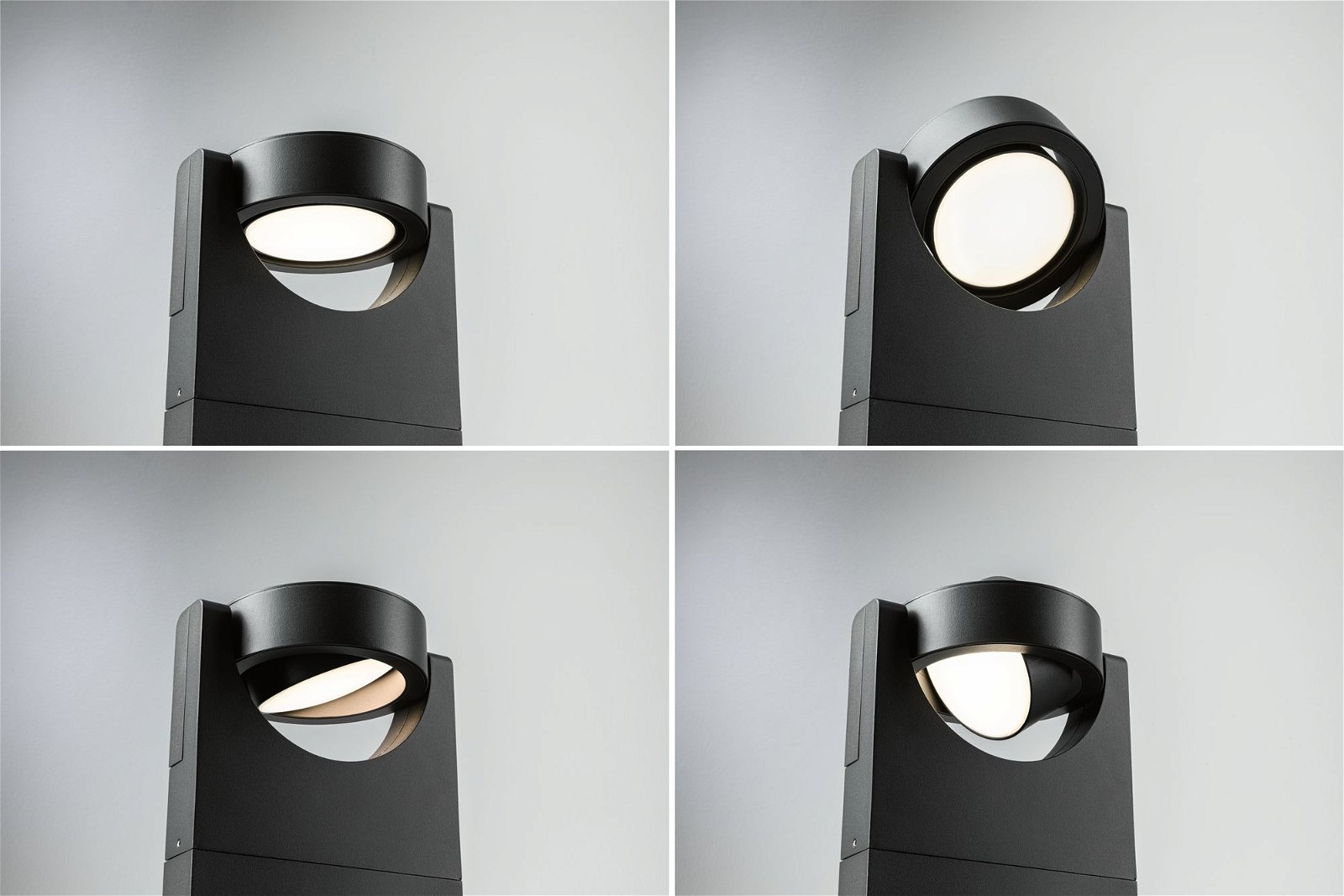 LED Pollerleuchte Swivea IP44 625mm 3000K 8W 1150lm 230V Anthrazit Aluminium