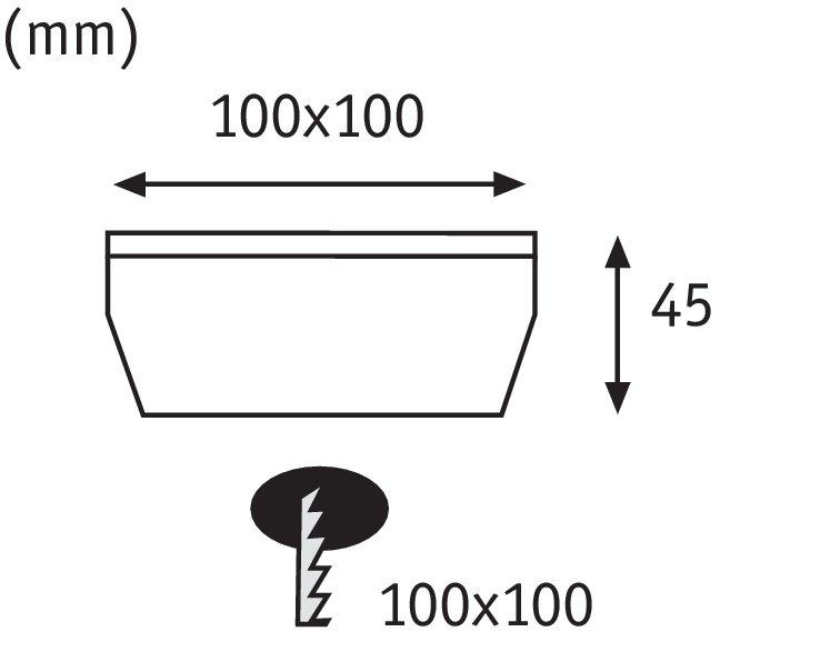Solar Encastré de sol LED Cube IP67 2700K 3,6lm Acier inoxydable/Clair