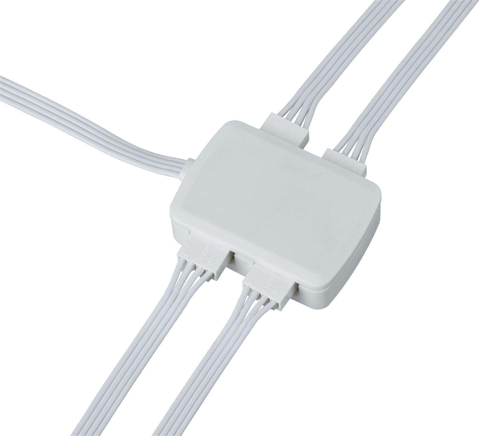 YourLED Verbinder Junction-Box 4-fach Verteilung 30x45mm max. 60W Weiß