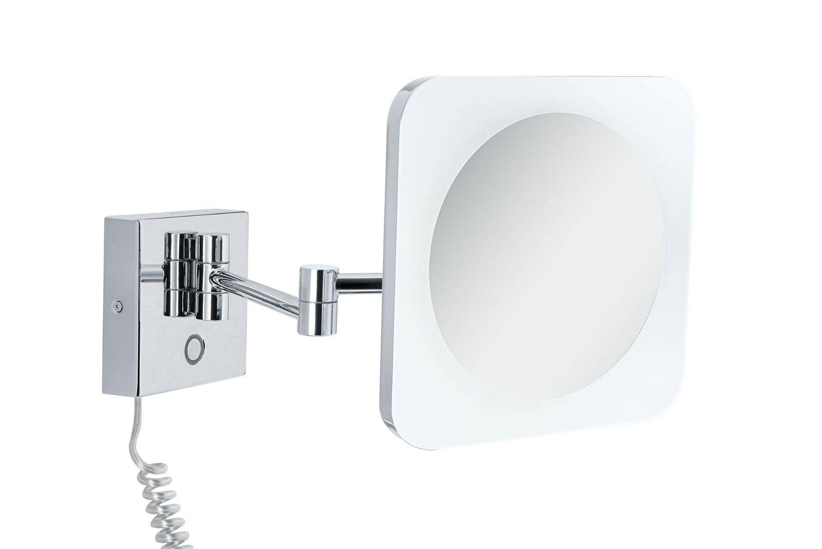 HomeSpa LED Kosmetikspiegel Jora IP44 White Switch 270lm 230V 3,3W Chrom/Weiß/Spiegel