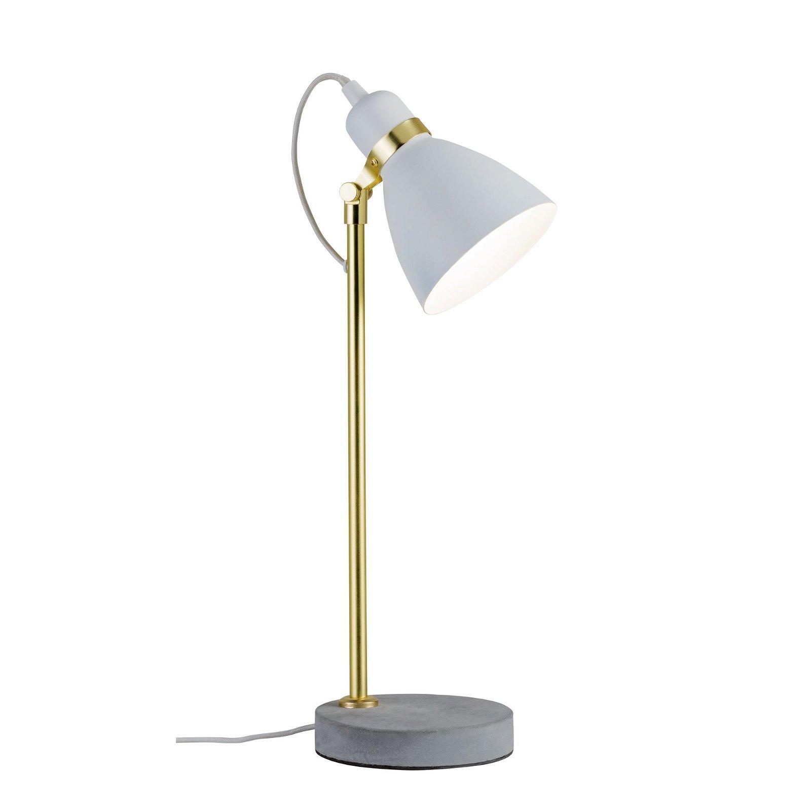 Neordic LED-tafellamp Orm E27 max. 20W Wit mat/Goud mat/Grijs Metaal/Beton