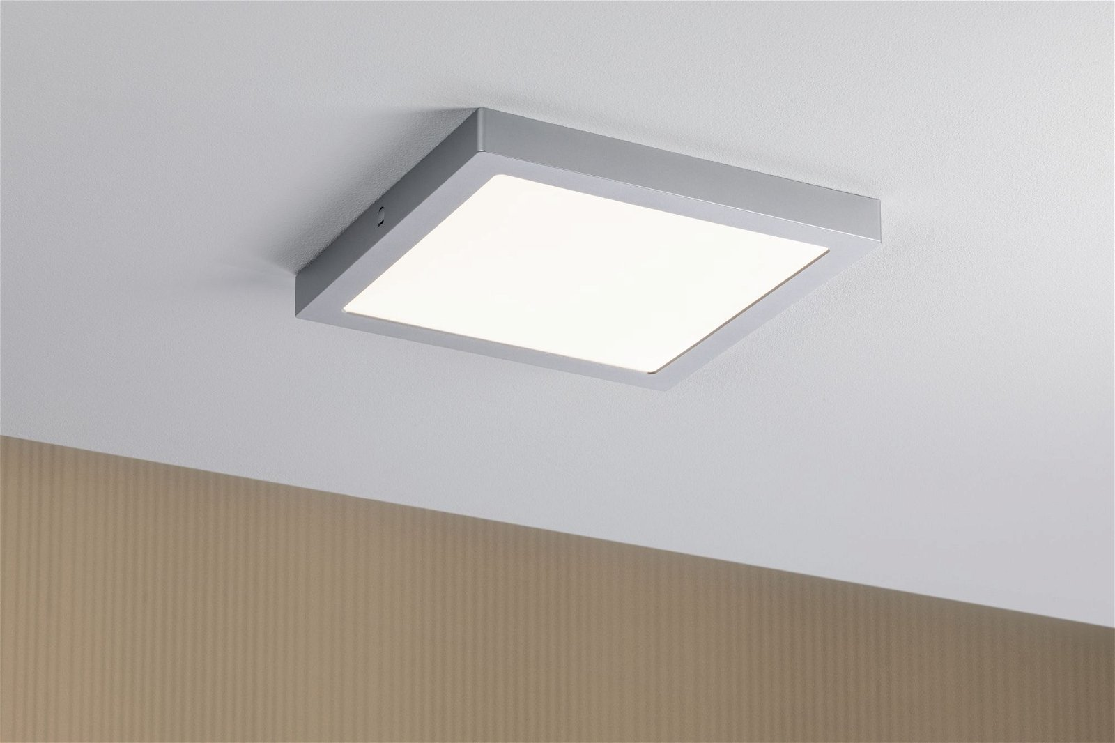 LED Panel Abia square 300x300mm 3200lm 2700K Chrome matt