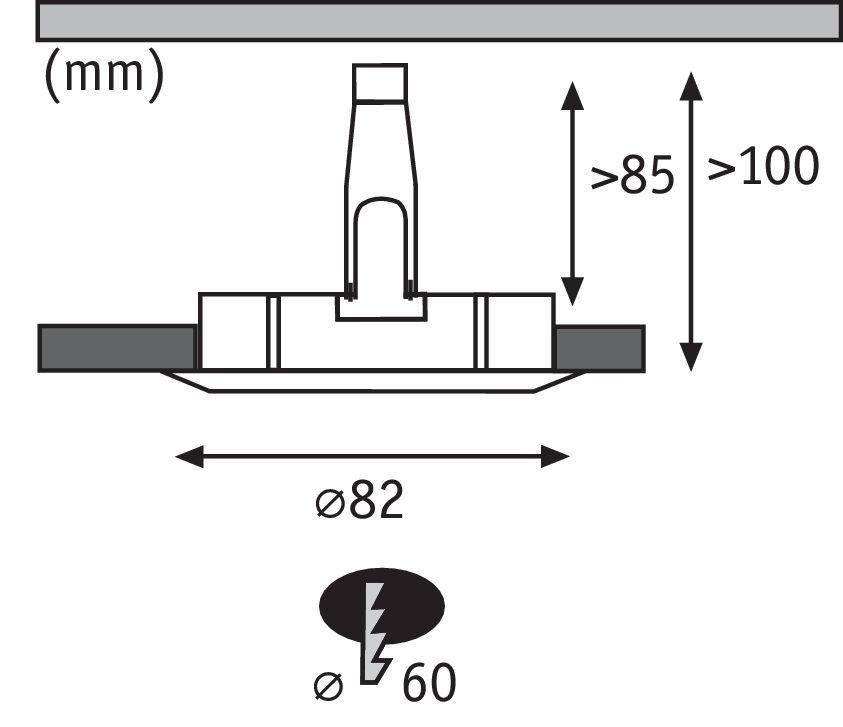 Einbauleuchte LED rund 4,5W GU10 Eisen 3er-Set starr