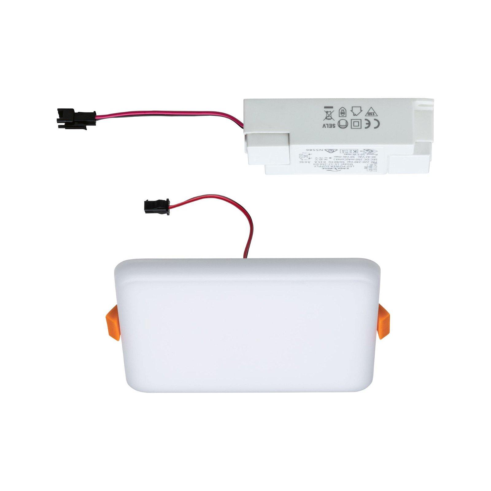 VariFit LED Einbaupanel Veluna IP44 IP44 eckig 125x125mm 3000K Satin
