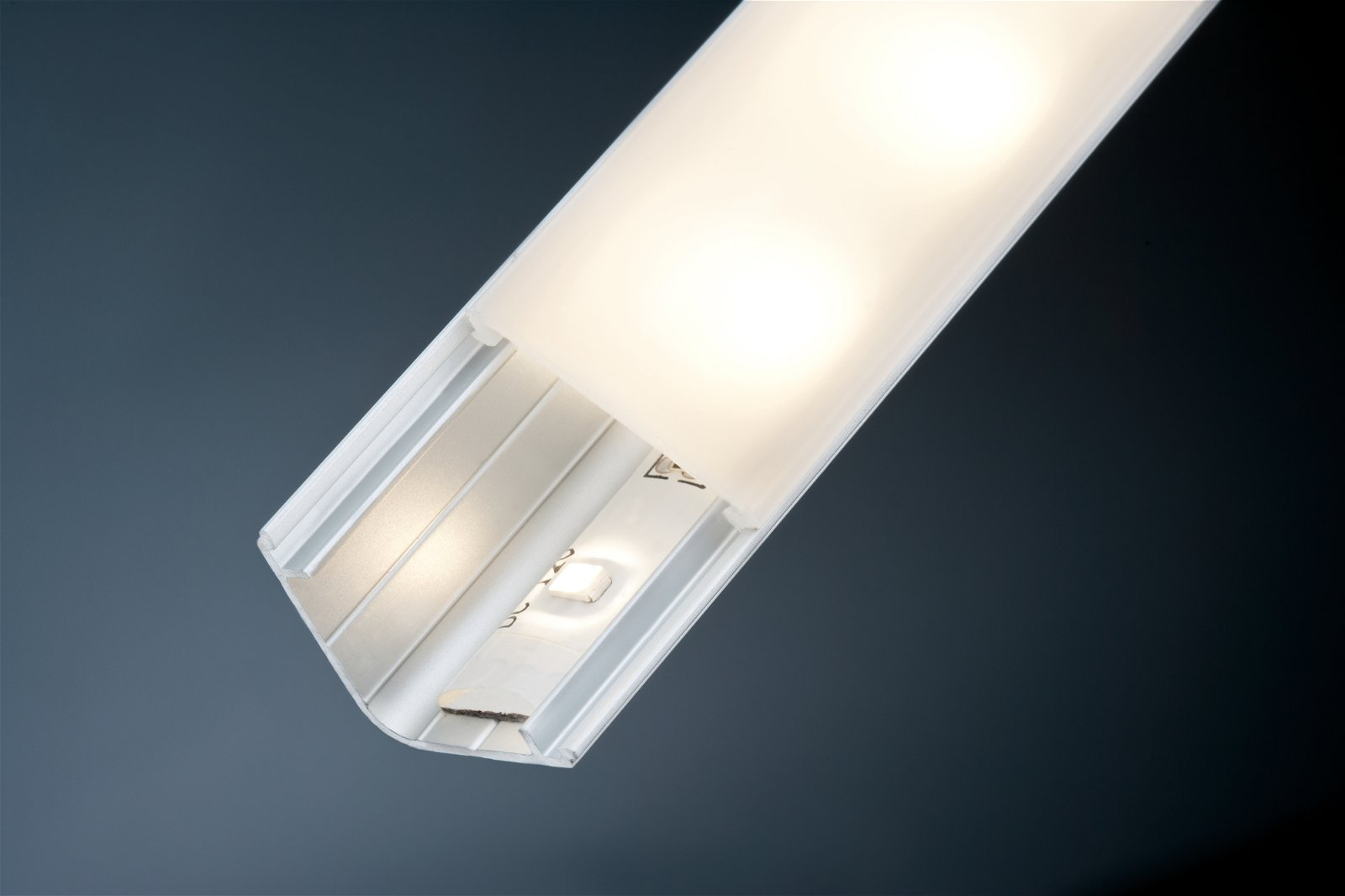 Profilé de strip LED Delta 2m Alu/Satiné