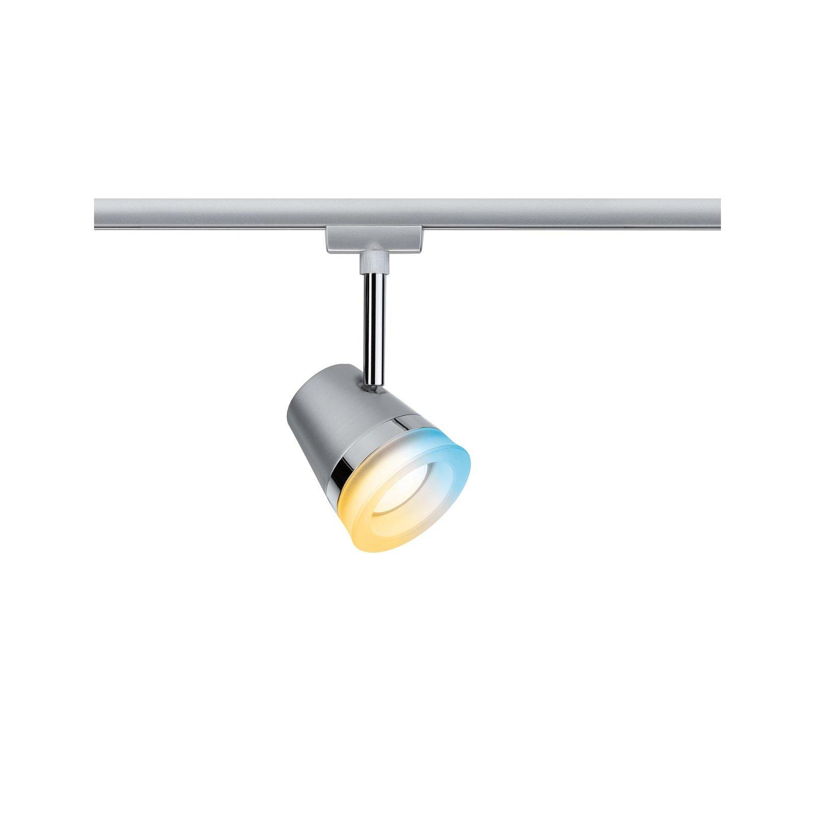 URail Schienenspot Smart Home Zigbee Cone inkl. Tunable White Leuchtmittel GU10 330lm 5W 2700 - 6500K 230V Chrom matt/Chrom