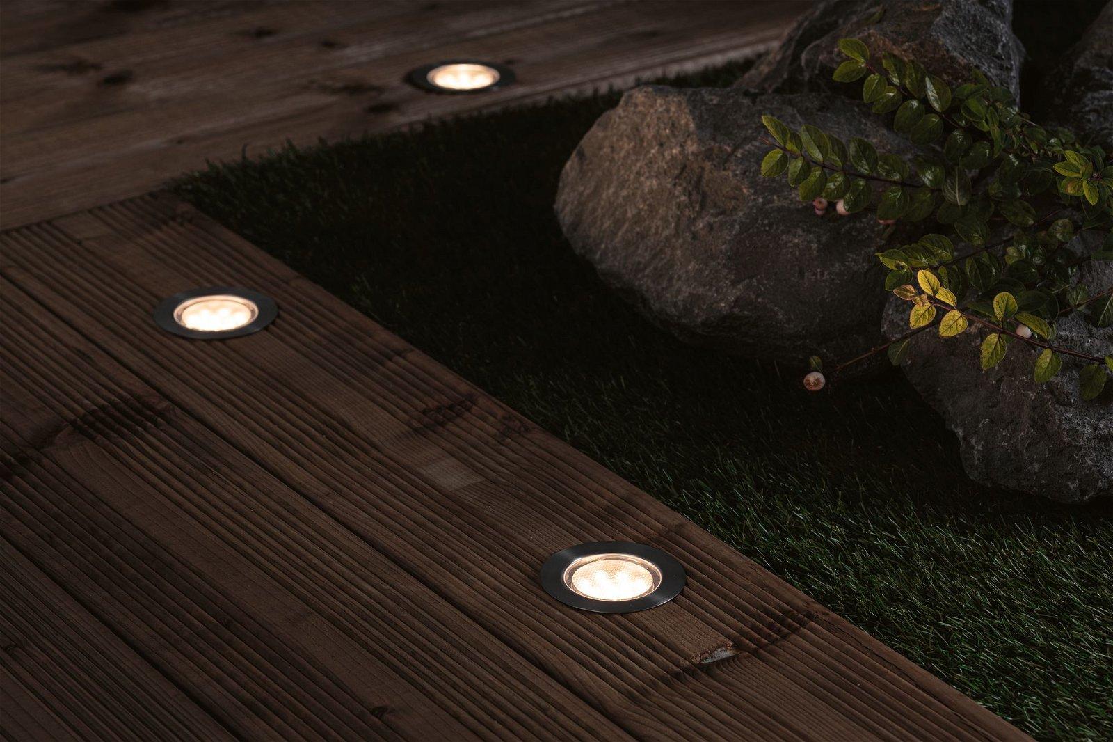 Plug & Shine LED Bodeneinbauleuchte Floor Eco Basisset IP67 3000K 3x1,3W 21VA Silber