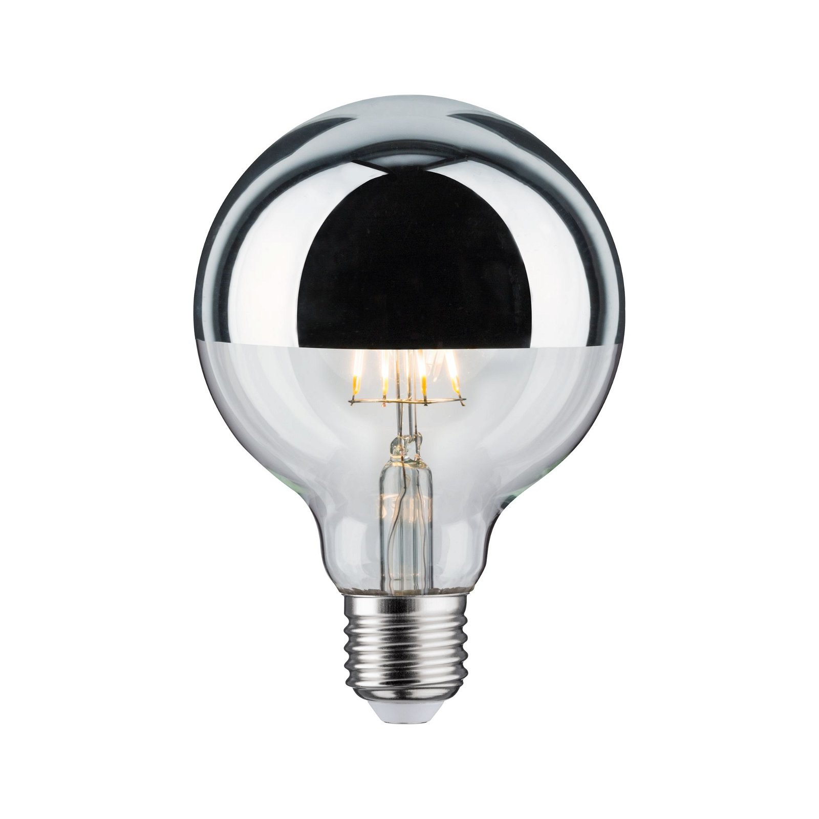 Modern Classic Edition LED Globe Kopfspiegel E27 230V 600lm 6,5W 2700K Kopfspiegel Silber