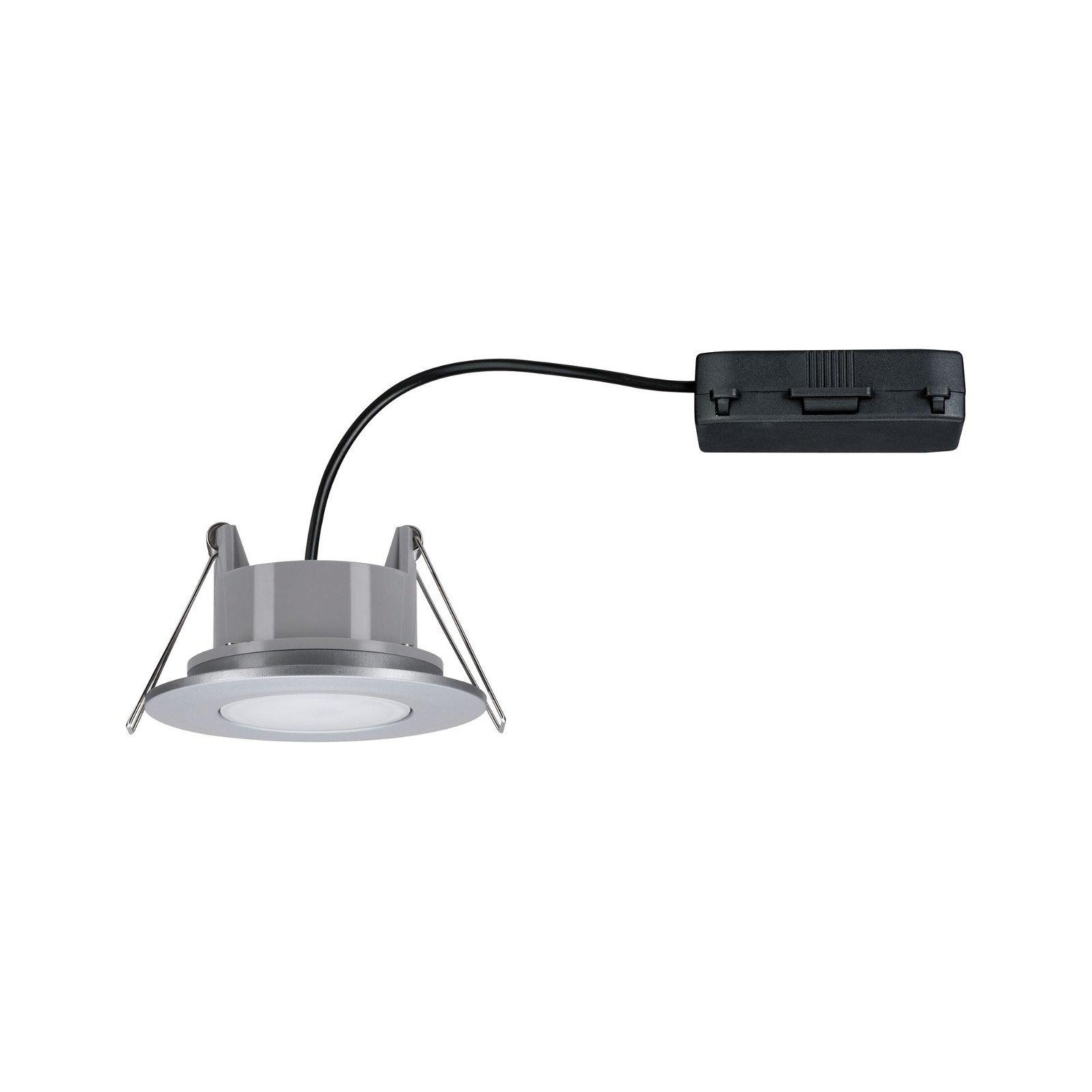 LED Einbauleuchte Calla schwenkbar IP65 rund 90mm 30° 6,5W 560lm 230V 4000K Chrom matt