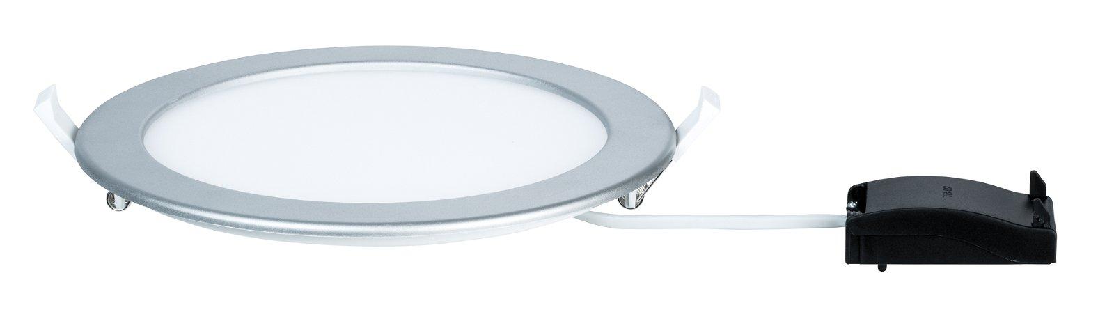 LED Einbaupanel IP44 rund 220mm 1724lm 2700K Chrom matt