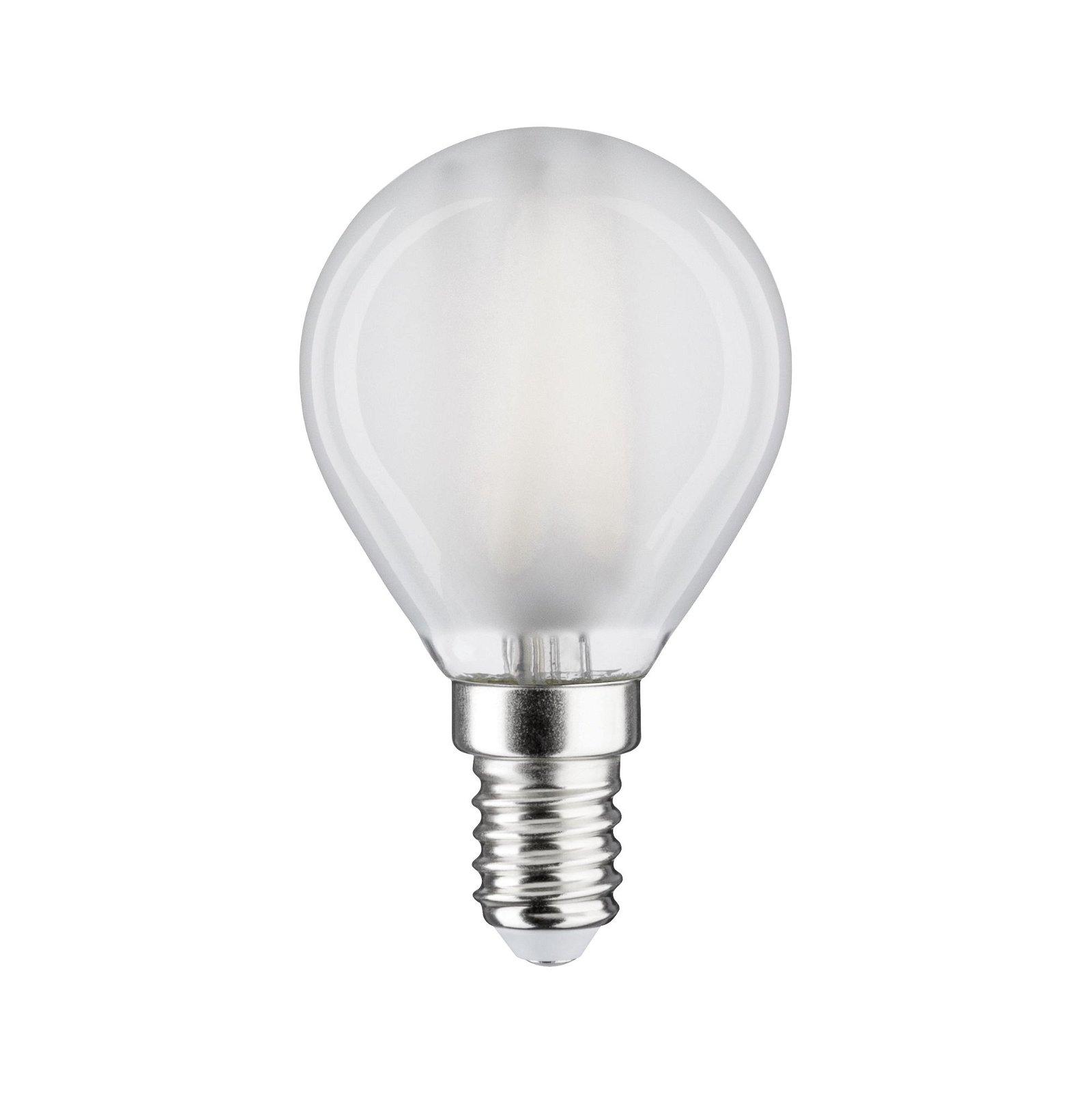 LED Tropfen Filament E14 230V 470lm 5W 6500K Matt
