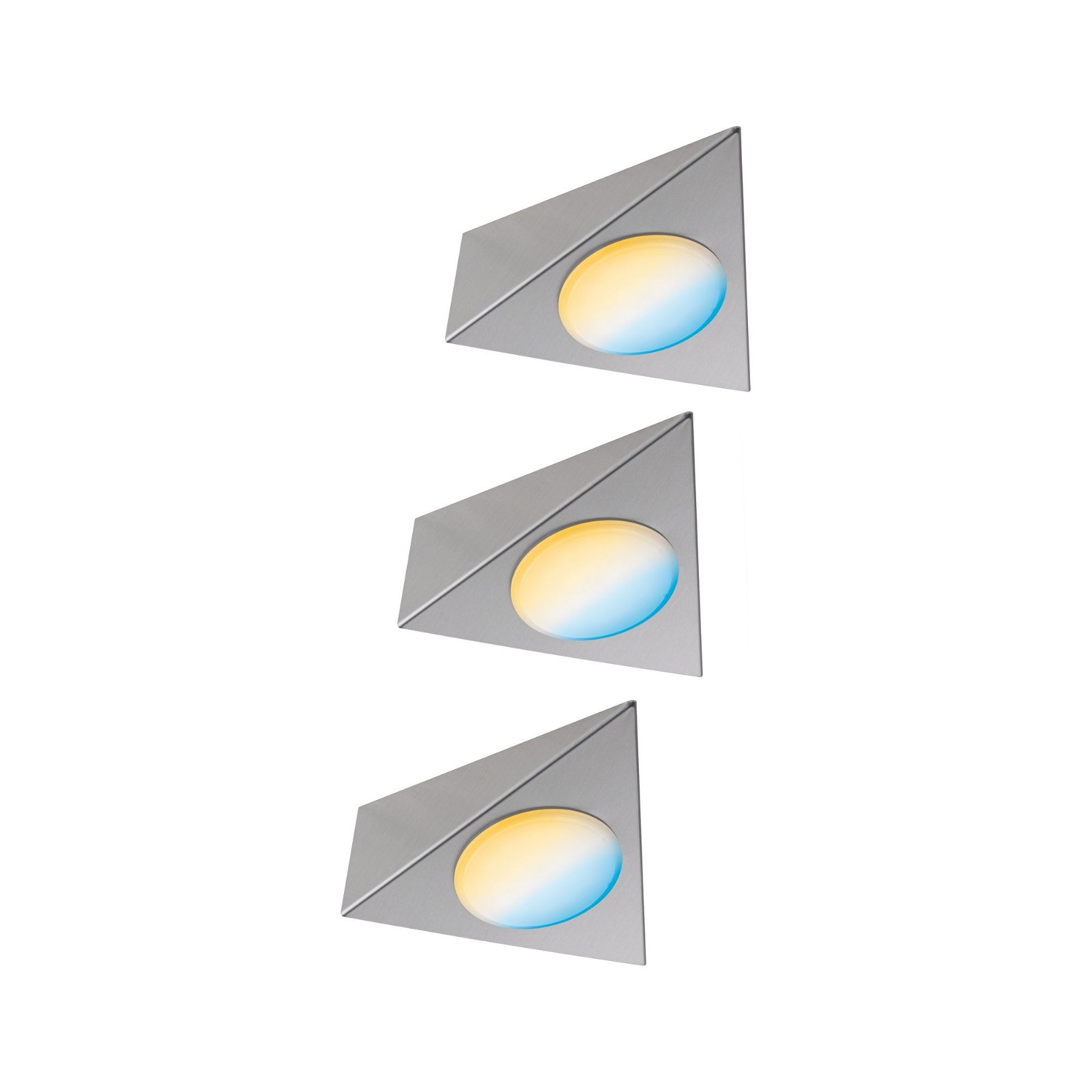 Clever Connect LED Spot Trigo Tunable White 3x2,1W 12VA Nickel gebürstet