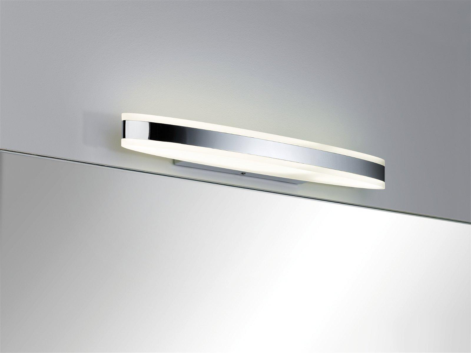 LED-spiegellamp Kuma IP44 3000K 660lm 230V 9W Chroom/Wit