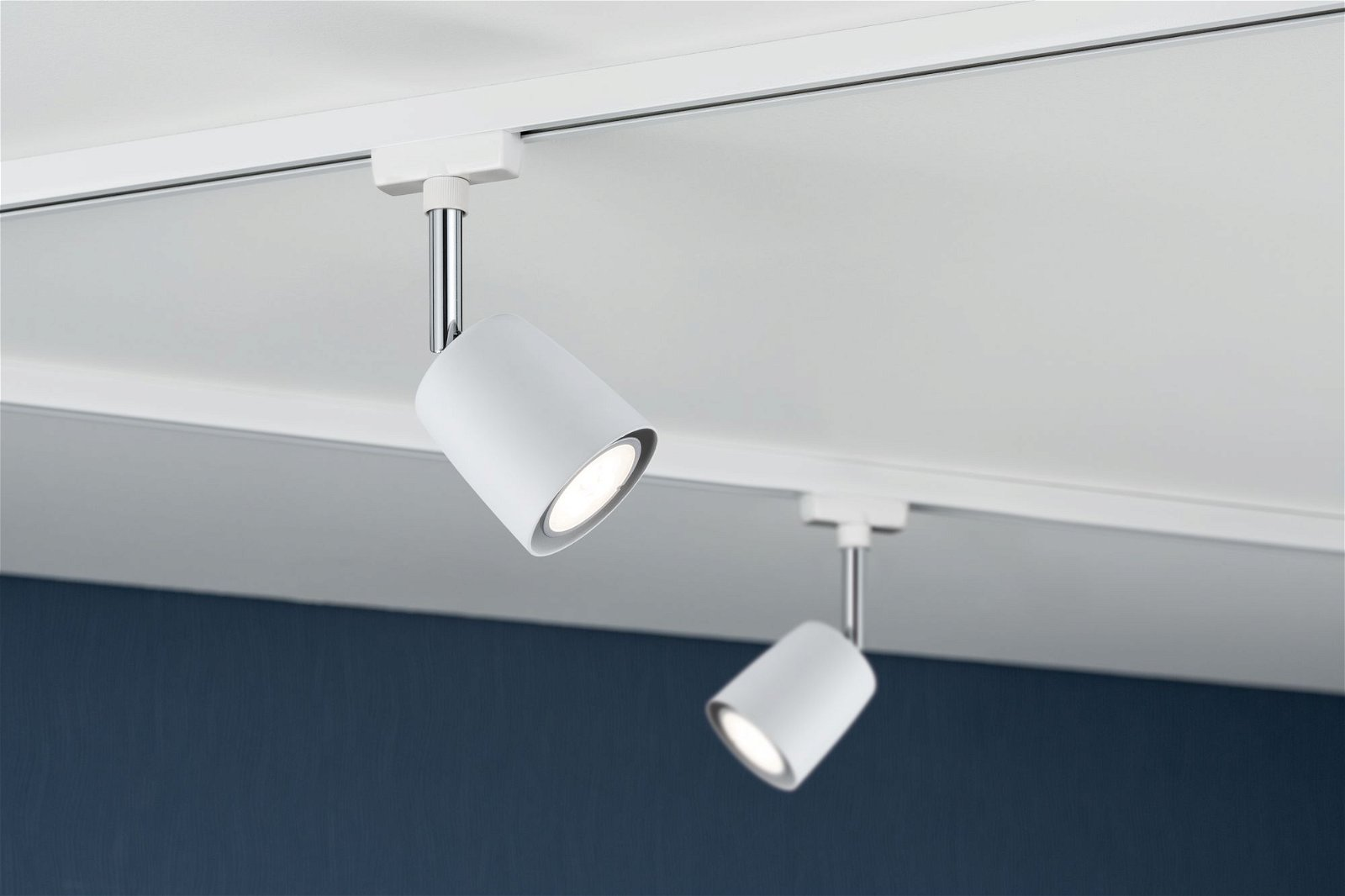 URail Spot sur rail Cover Luminaire individuel GU10 max. 10W 230V Blanc/Chrome