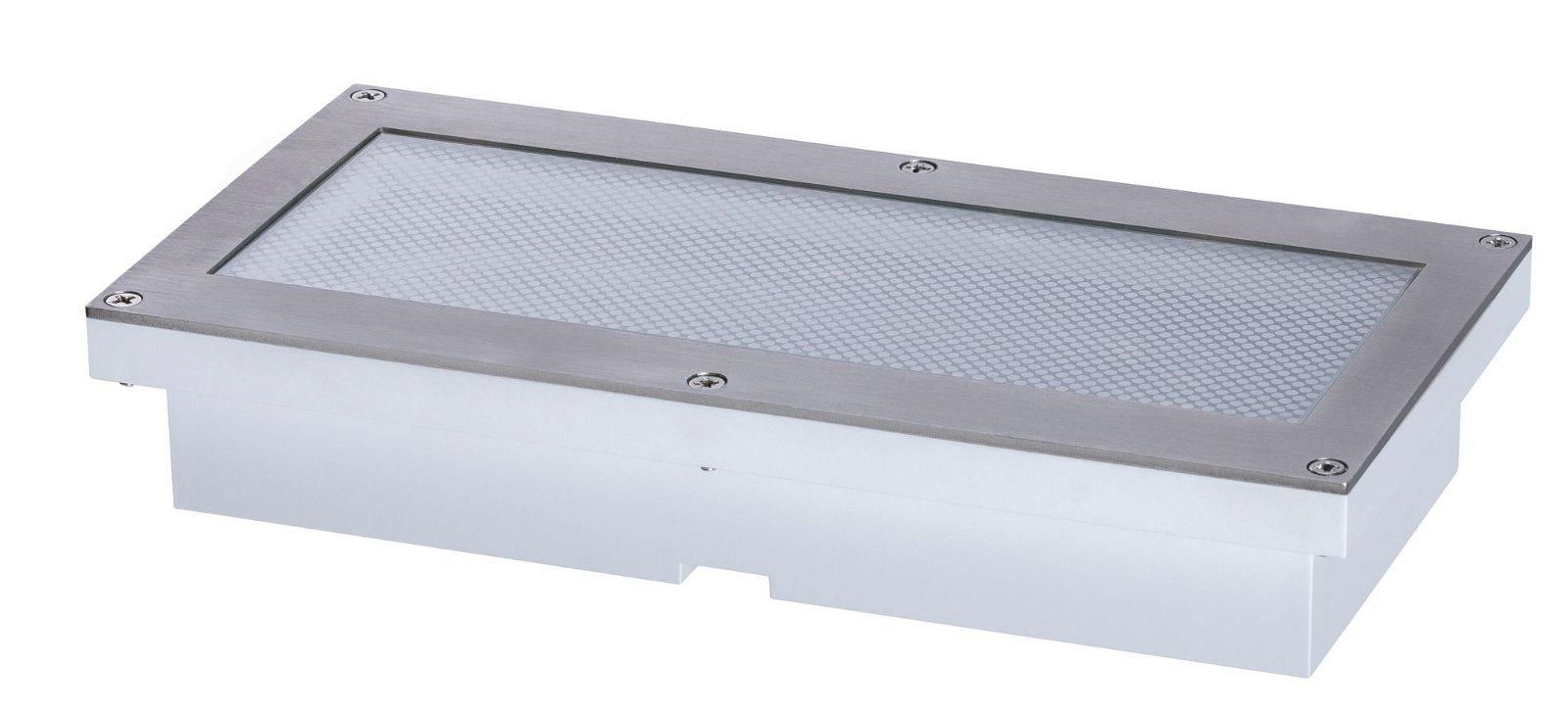 LED Bodeneinbauleuchte Brick Warmweiß IP67 200x100mm 3000K 1,6W 160lm 230V Alu/Grau Metall/Edelstahl