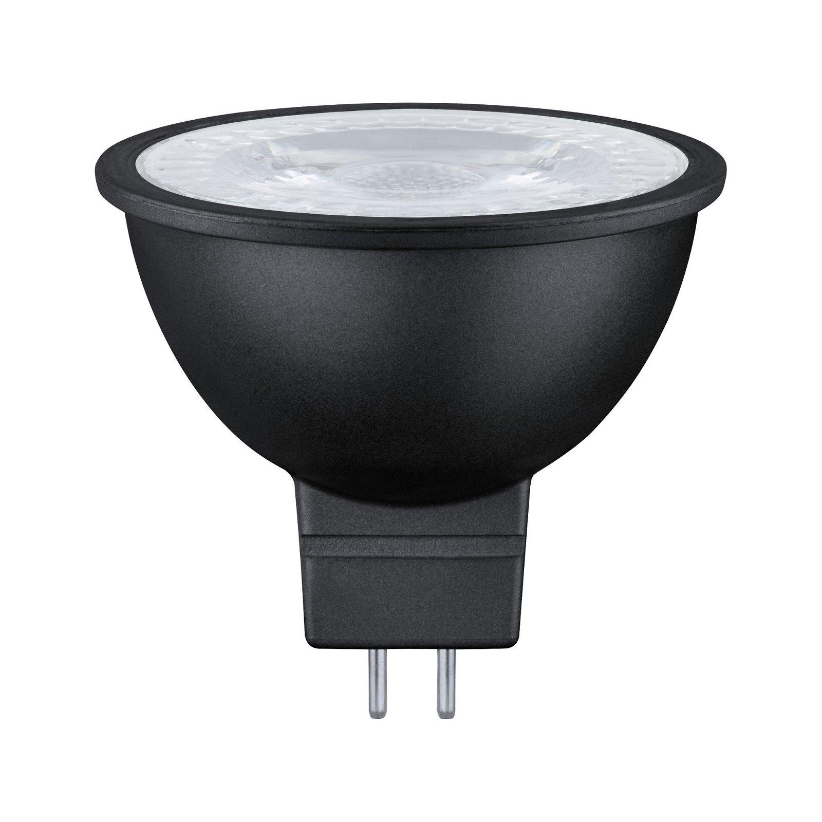 Réflecteur LED GU5,3 12V 445lm 6,5W 2700K Noir mat