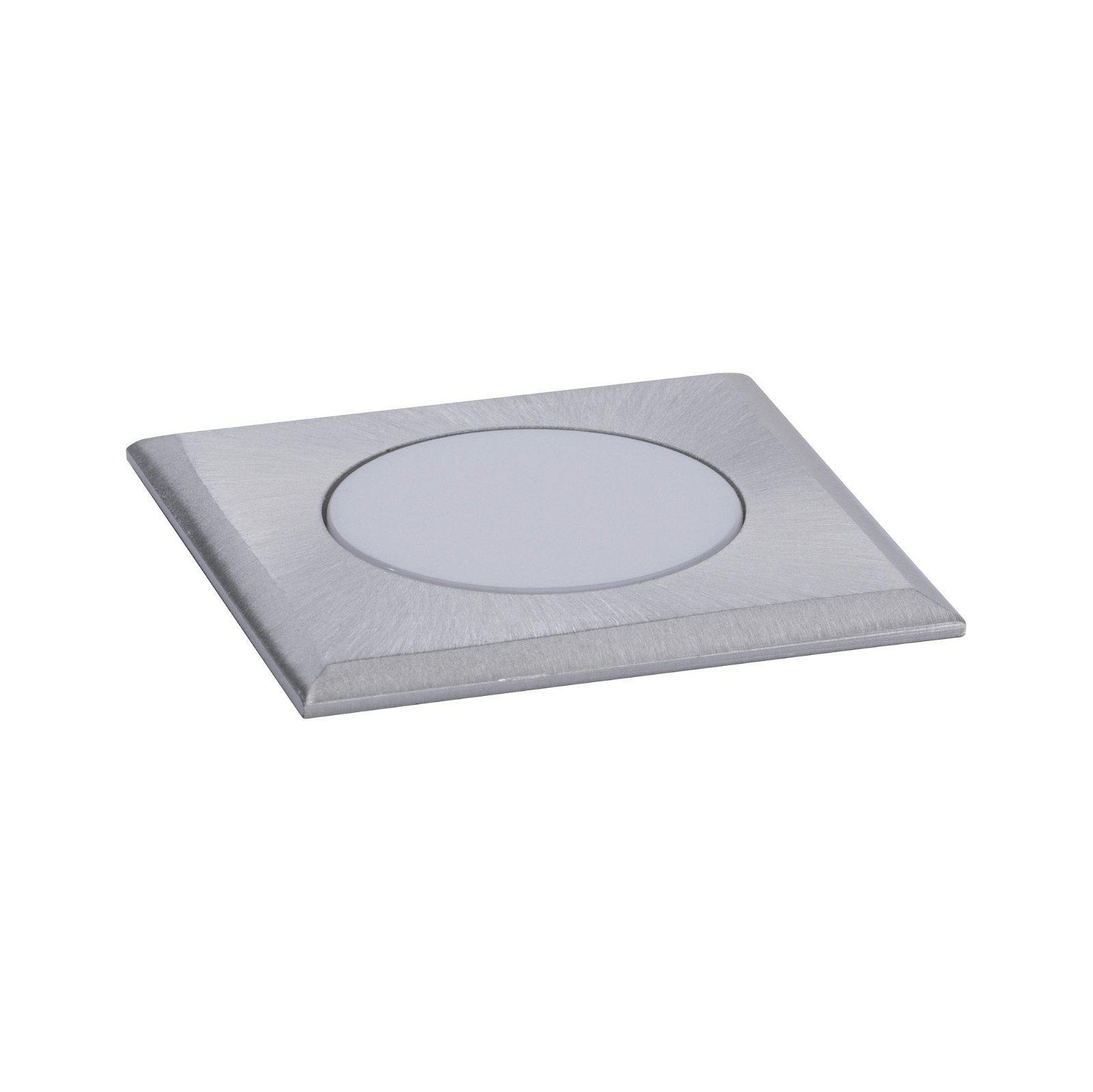 House Encastré de sol LED IP65 carré 50x50mm 3000K 2W 210lm 230V Acier inoxydable brossé Acier inoxydable/Matière plastique