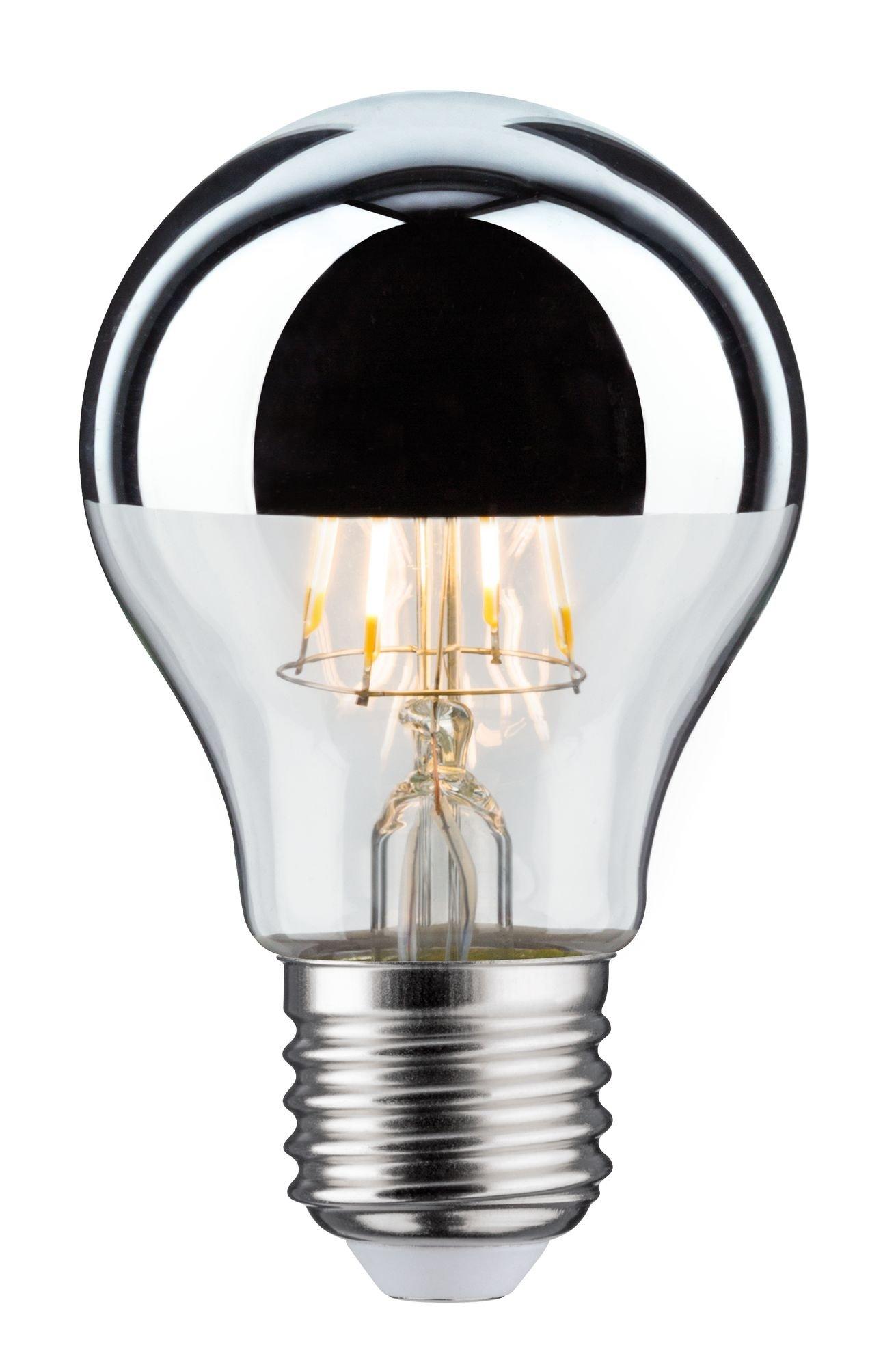 Modern Classic Edition LED-gloeilamp Kopspiegel E27 230V 580lm 4,8W 2700K Kopspiegel zilver