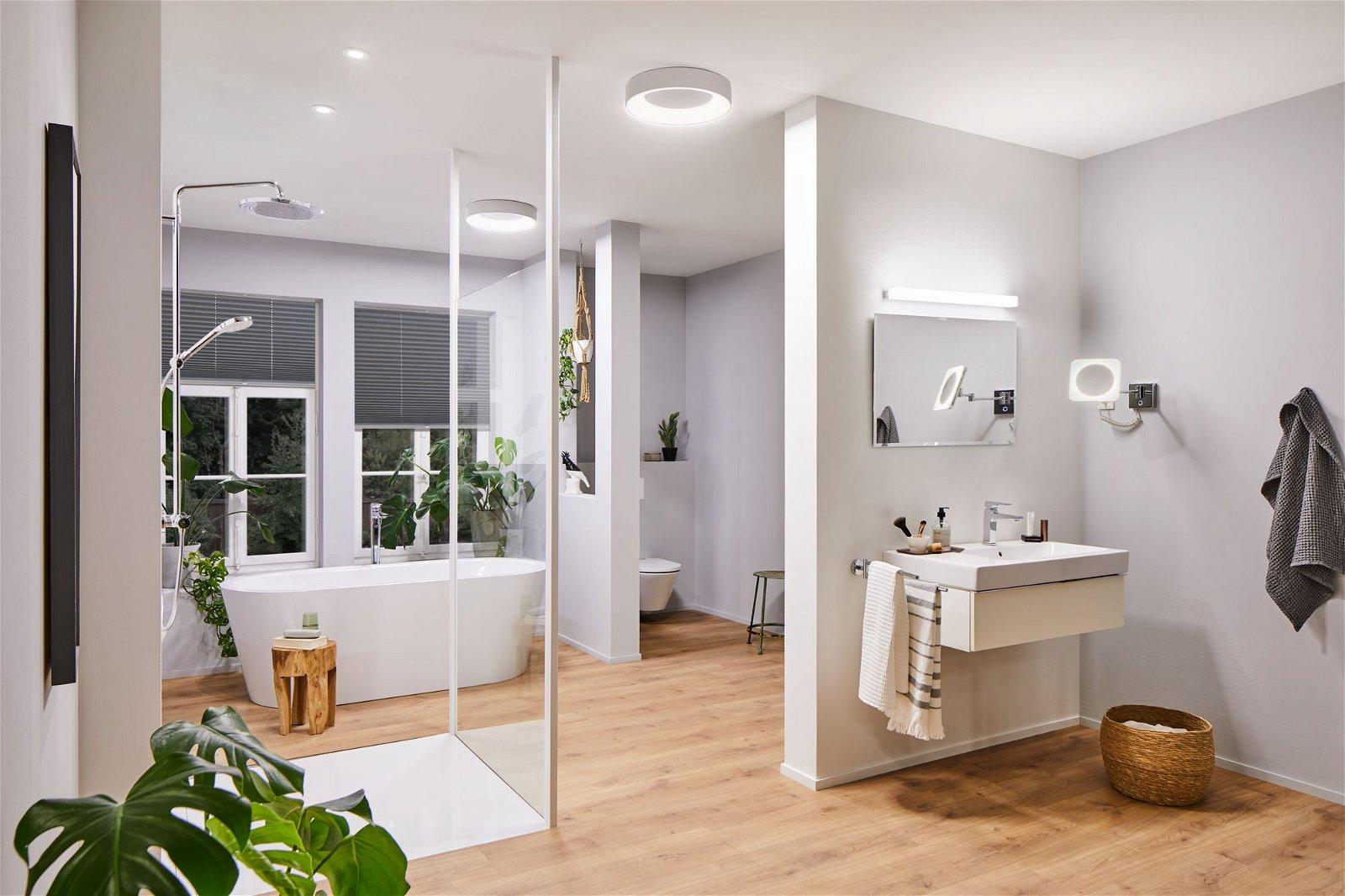 HomeSpa LED Spiegelleuchte Luno IP44 White Switch 930lm 230V 8W Alu