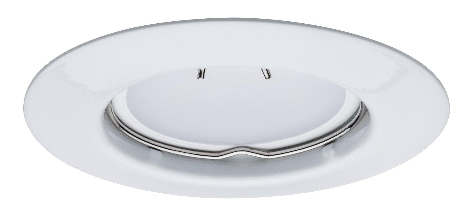 Einbauleuchte LED rund 4,5W GU10 Weiß 1er-Set starr