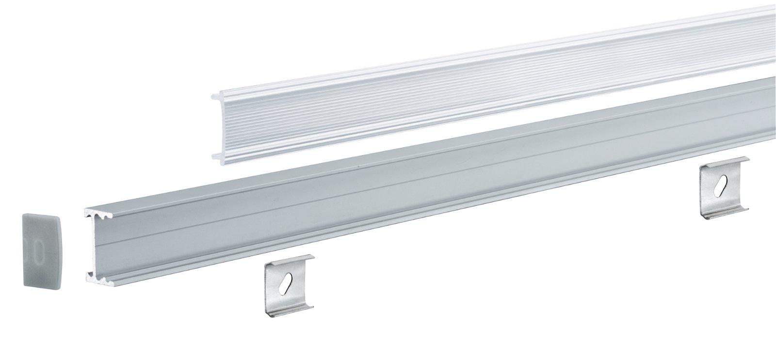 LED Strip profiel Square 2m Alu/Satijn