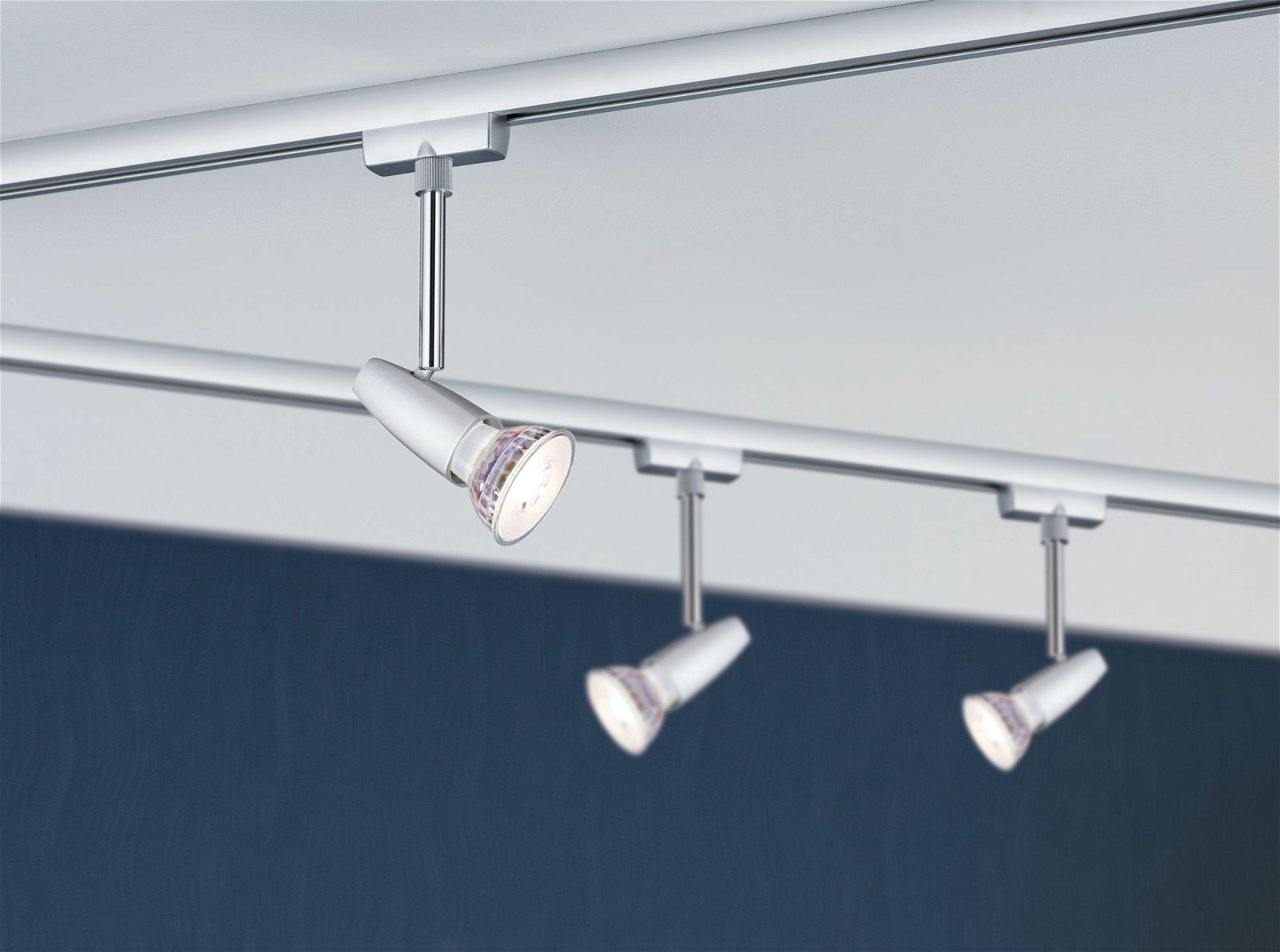 URail LED Spot Barelli Einzelspot GU10 max. 10W 230V Chrom matt/Chrom