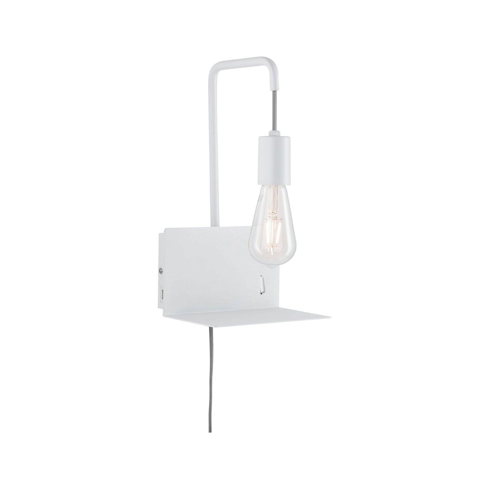 Applique avec étagère Calvani E27 230V max. 40W Blanc