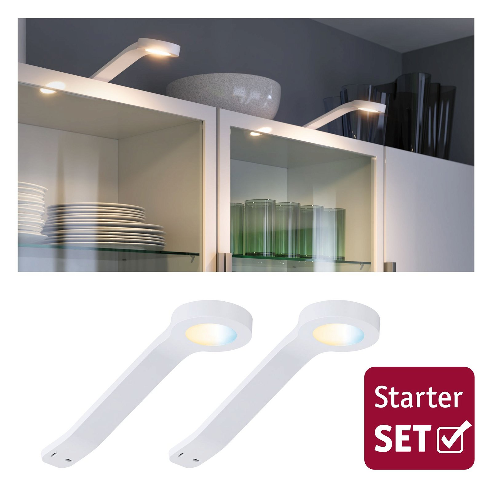 Clever Connect LED-spot Mike Tunable White 2x2W 12VA Wit mat