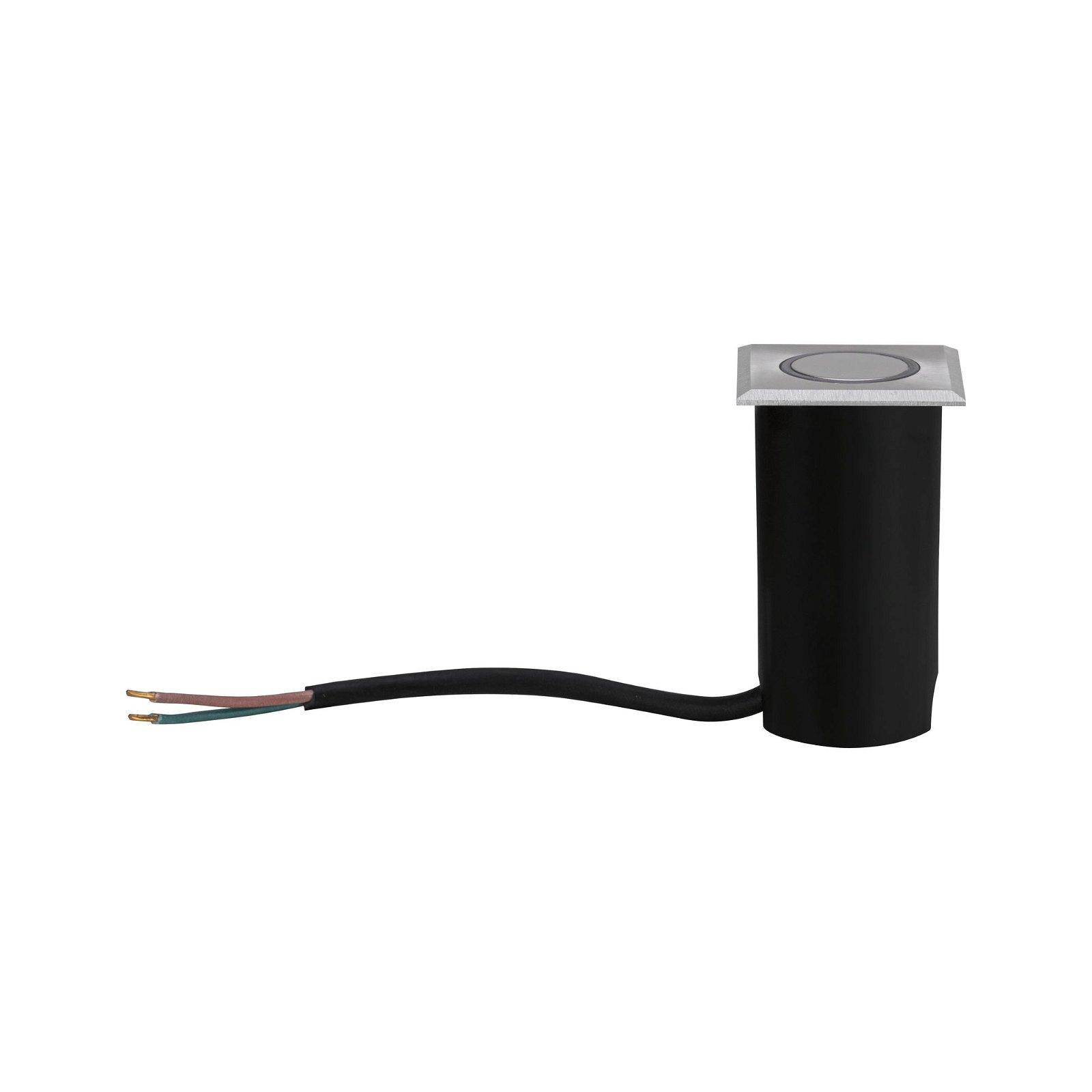 House LED-grondinbouwlamp IP65 hoekig 50x50mm 3000K 2W 210lm 230V Edelstaal geborsteld edelstaal/Kunststof