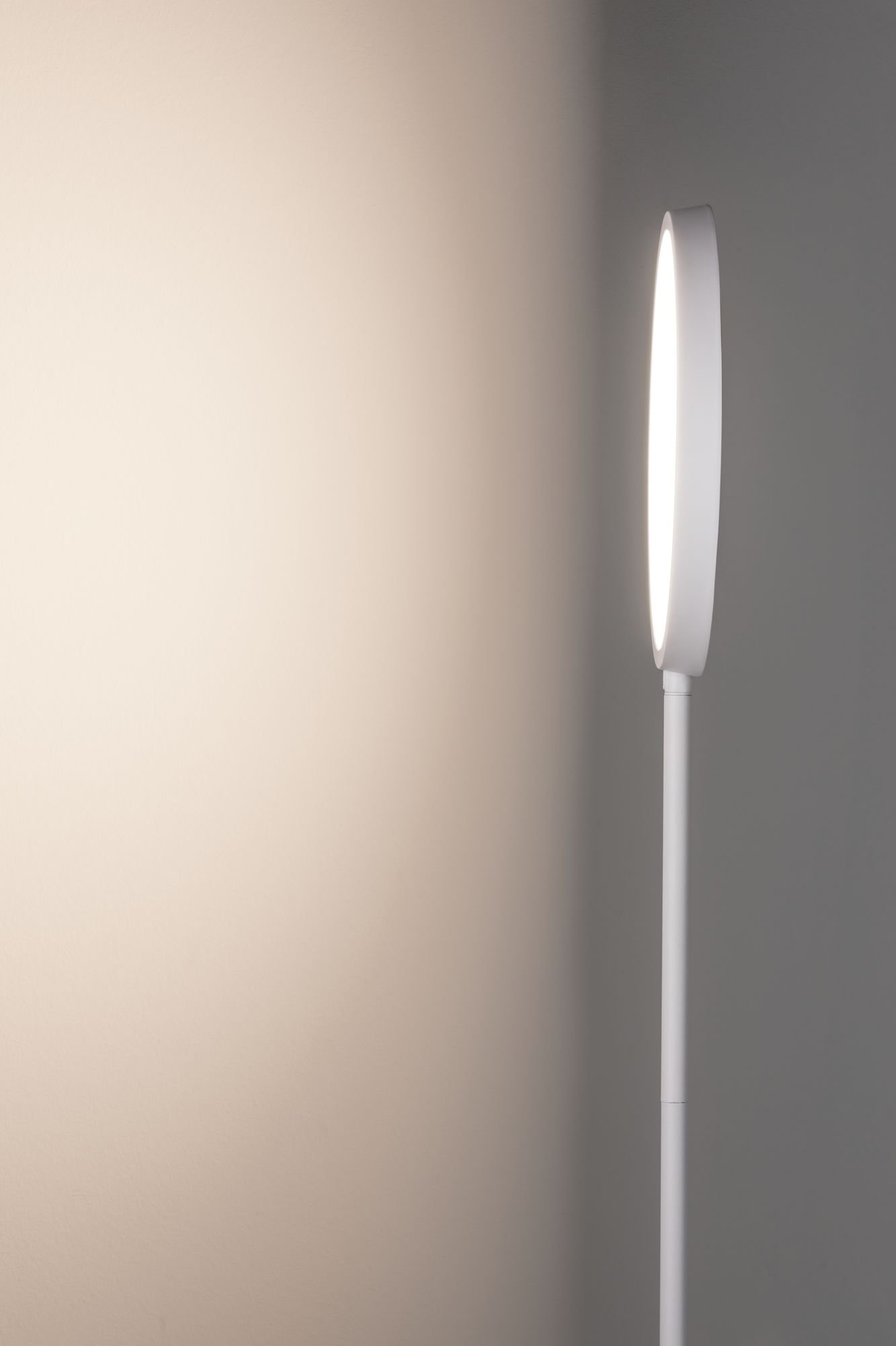 LED Stehleuchte Arik 17W Weiß/Alu gebürstet dimmbar