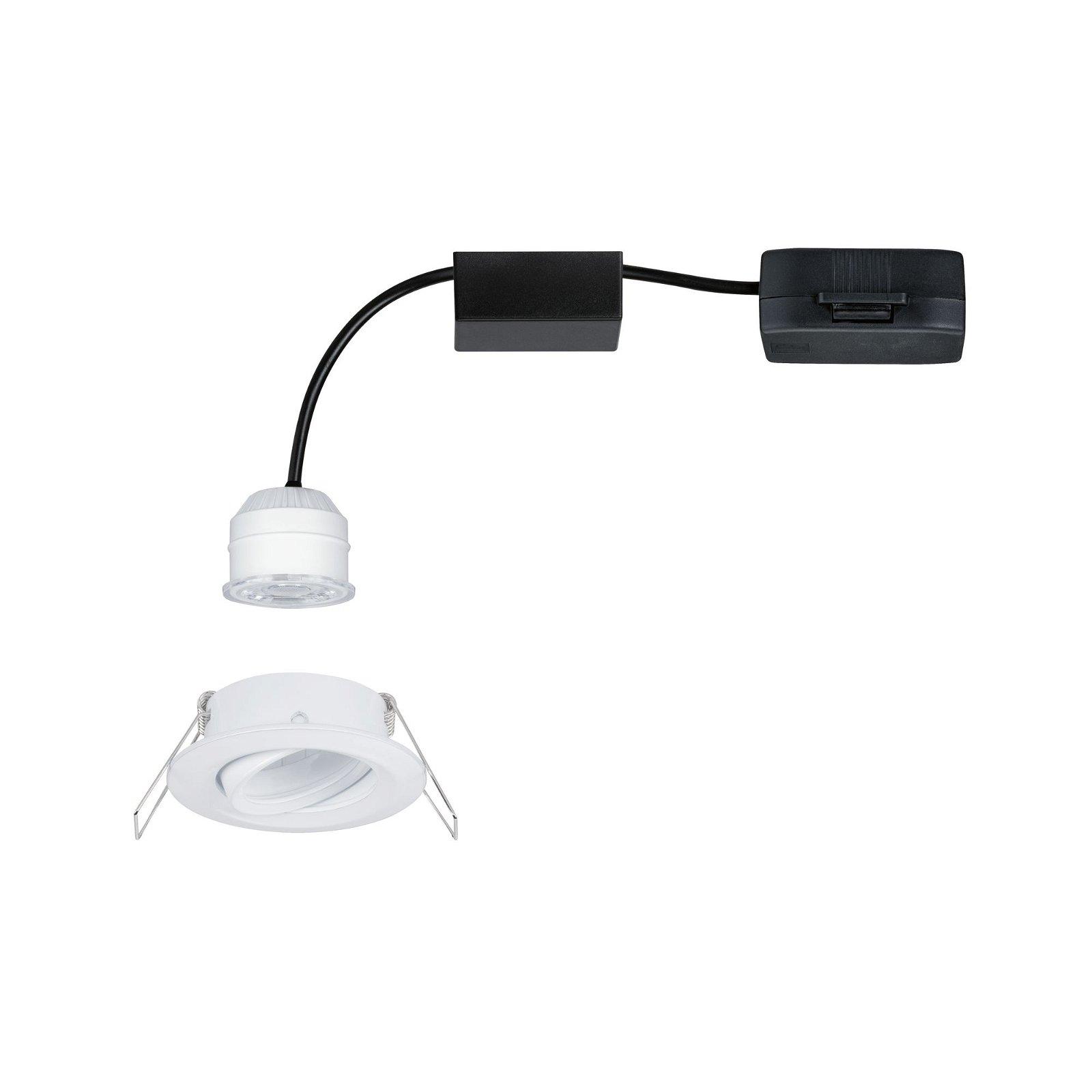 LED Einbauleuchte Easy Dim Nova Mini Plus Coin Einzelleuchte schwenkbar rund 66mm 15° Coin 4,2W 300lm 230V 2700K Weiß matt