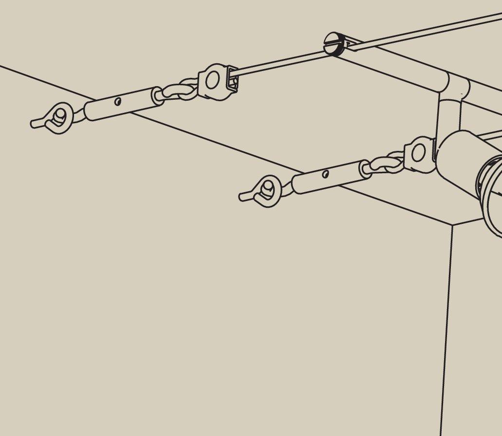 Seilsystem Montageset Halterung Chrom