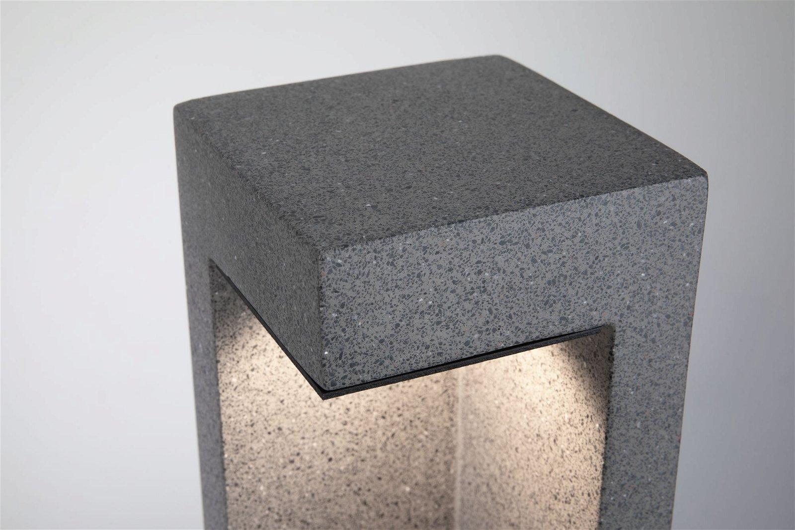 LED Pollerleuchte Concrea IP65 450mm 3000K 6,8W 630lm 230V Schwarzer Sandstein Beton
