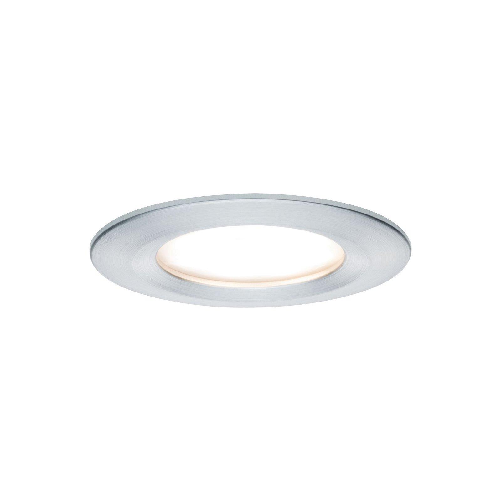 LED-inbouwlamp 3-Step-Dim Nova Coin Basisset star IP44 rond 78mm Coin 3x6,5W 3x460lm 230V 2700K Alu gedraaid