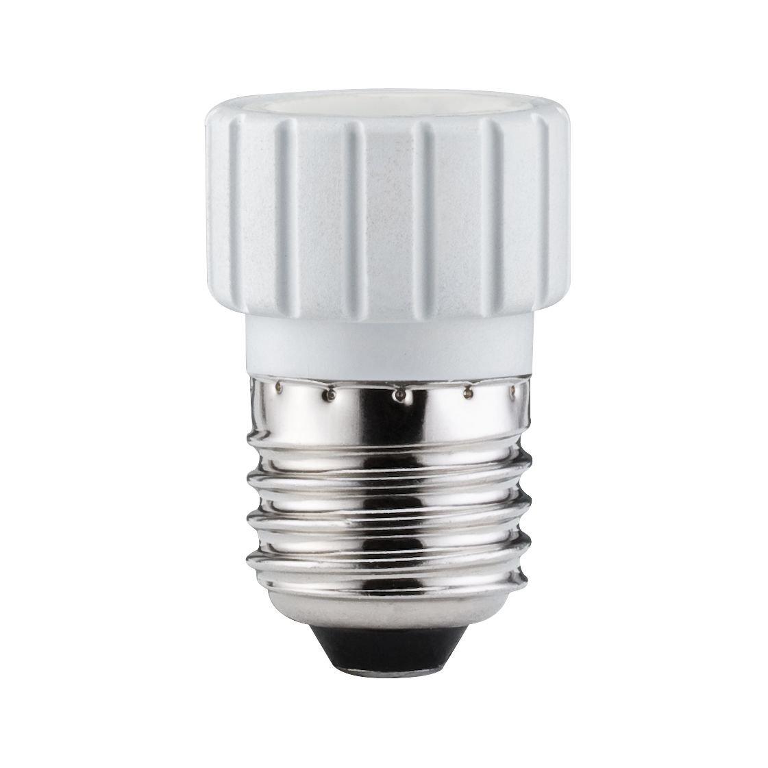 Adapteur de culot E27 en GU10 blanc