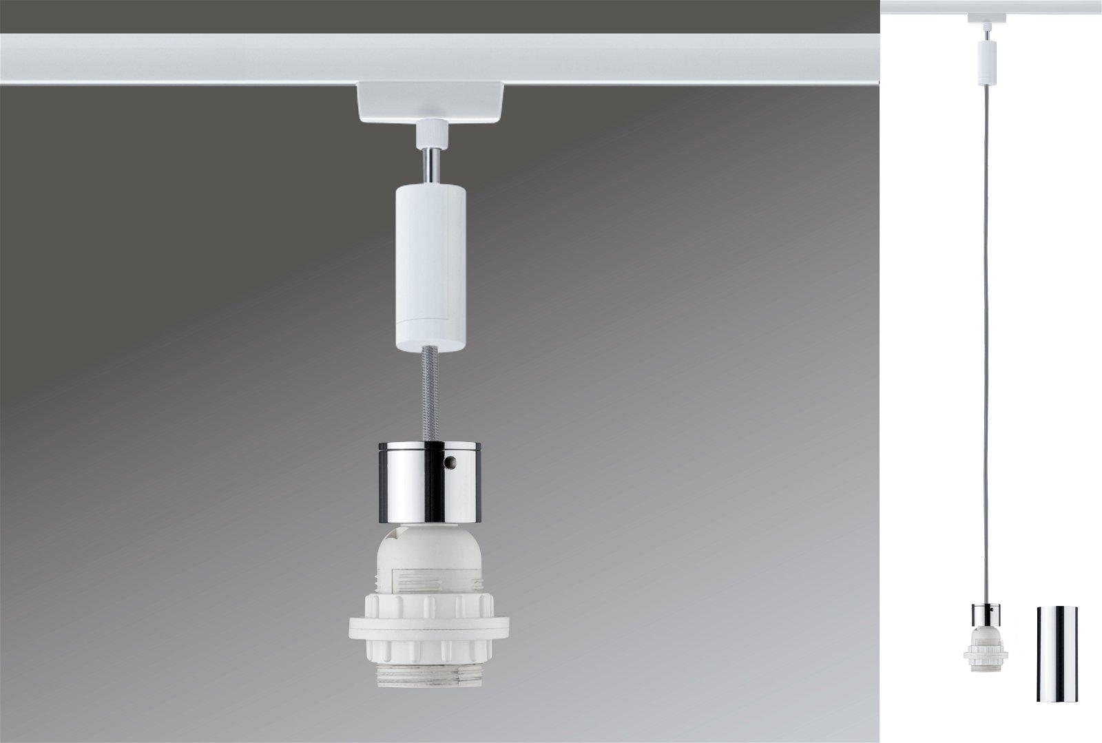 URail Pendels 2Easy E27 max. 20W 230V Wit/Chroom