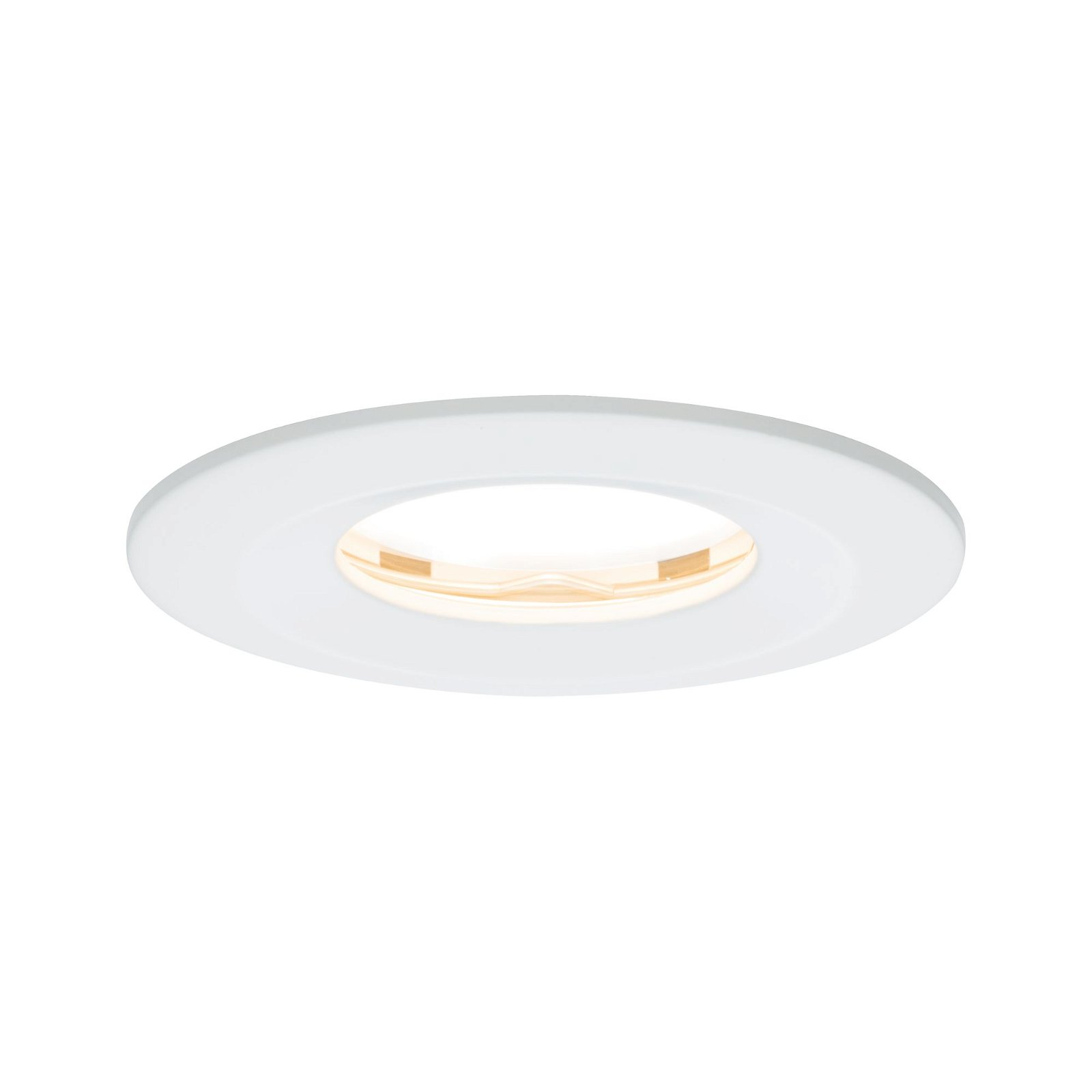 Spot encastré LED Nova Plus fixe IP65 rond 78mm Coin 6,8W 425lm 230V 2700K Blanc dépoli