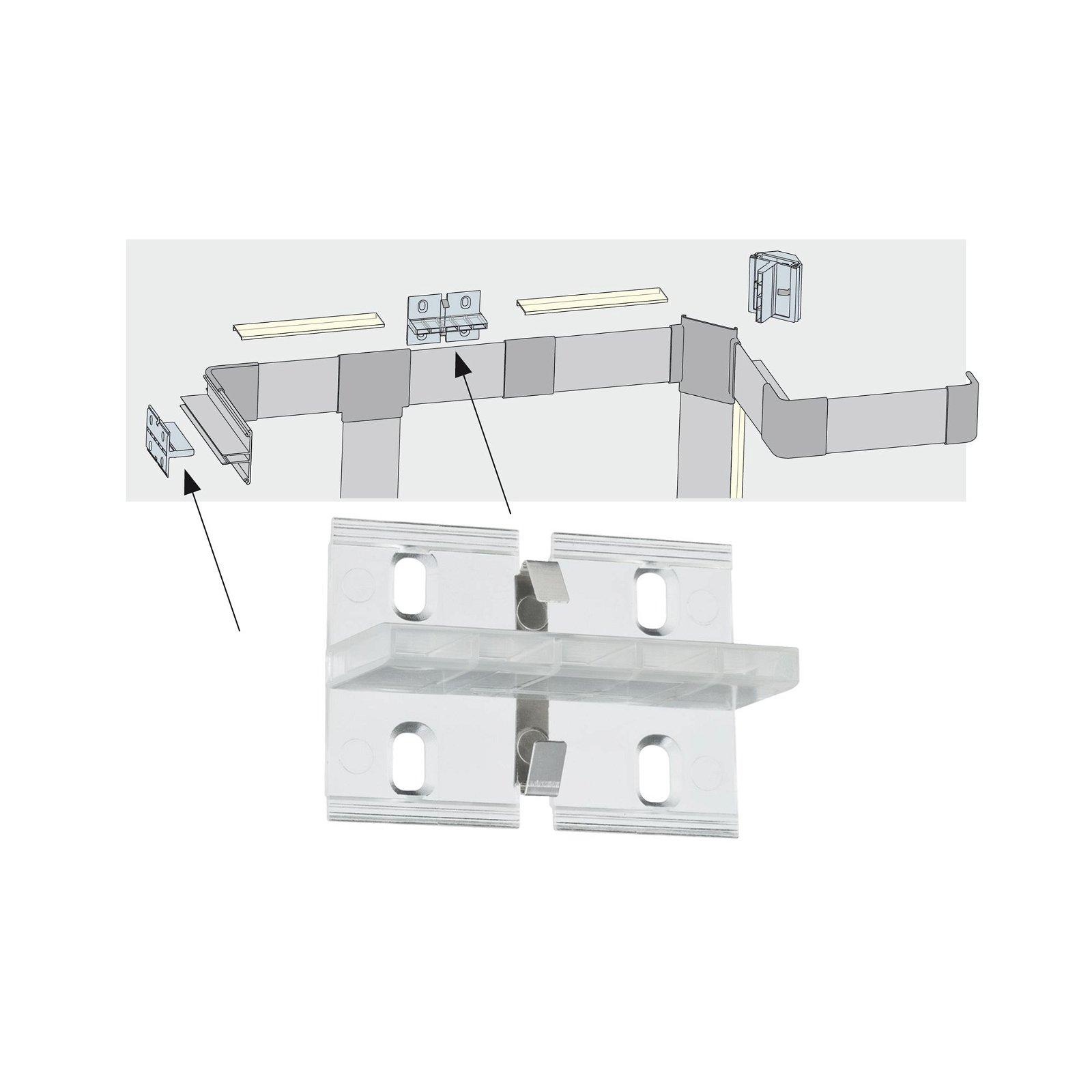 Profilé de strip LED Duo Fixture – Pack de 4 Transparent