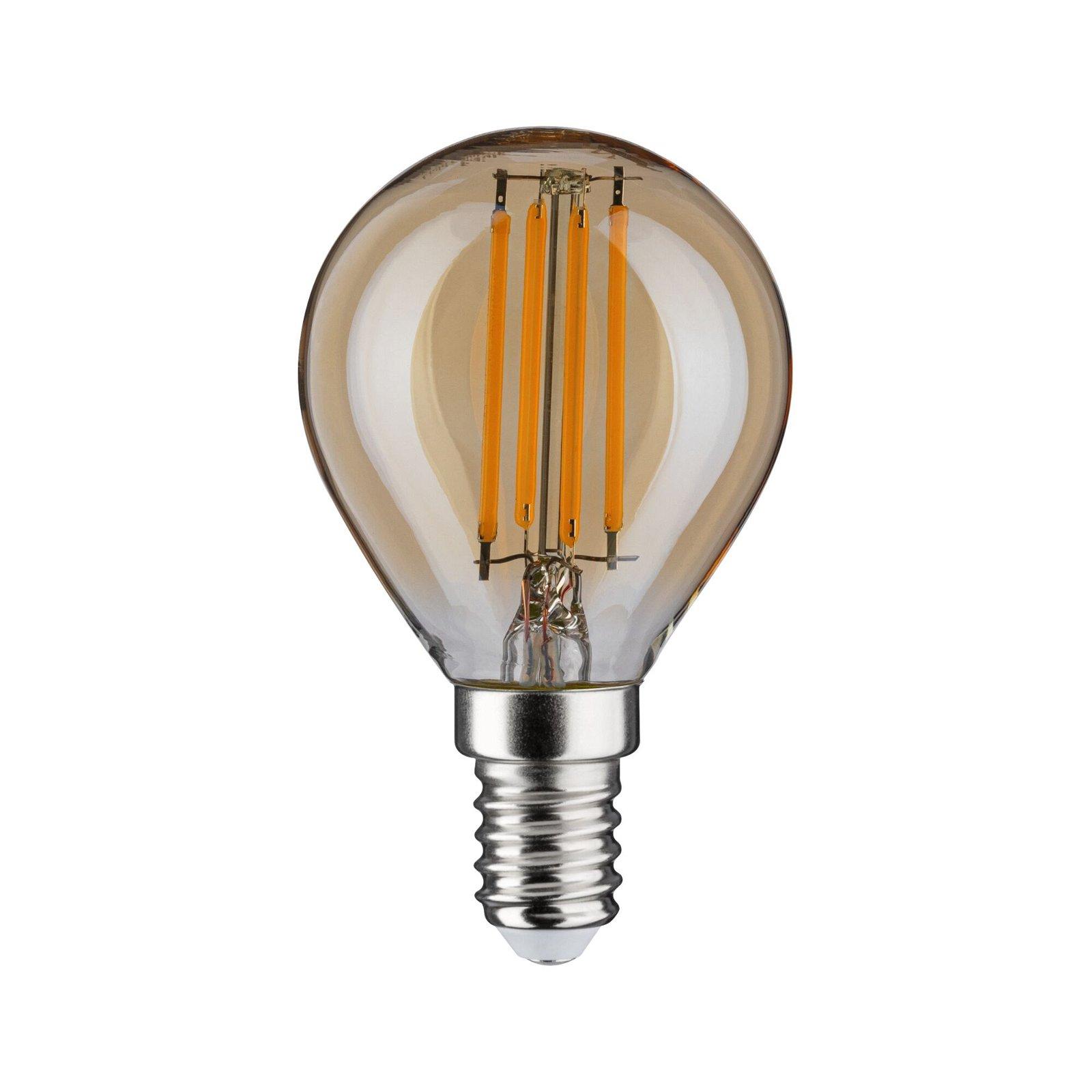 LED Tropfen E14 230V 430lm 4,7W 2500K Gold