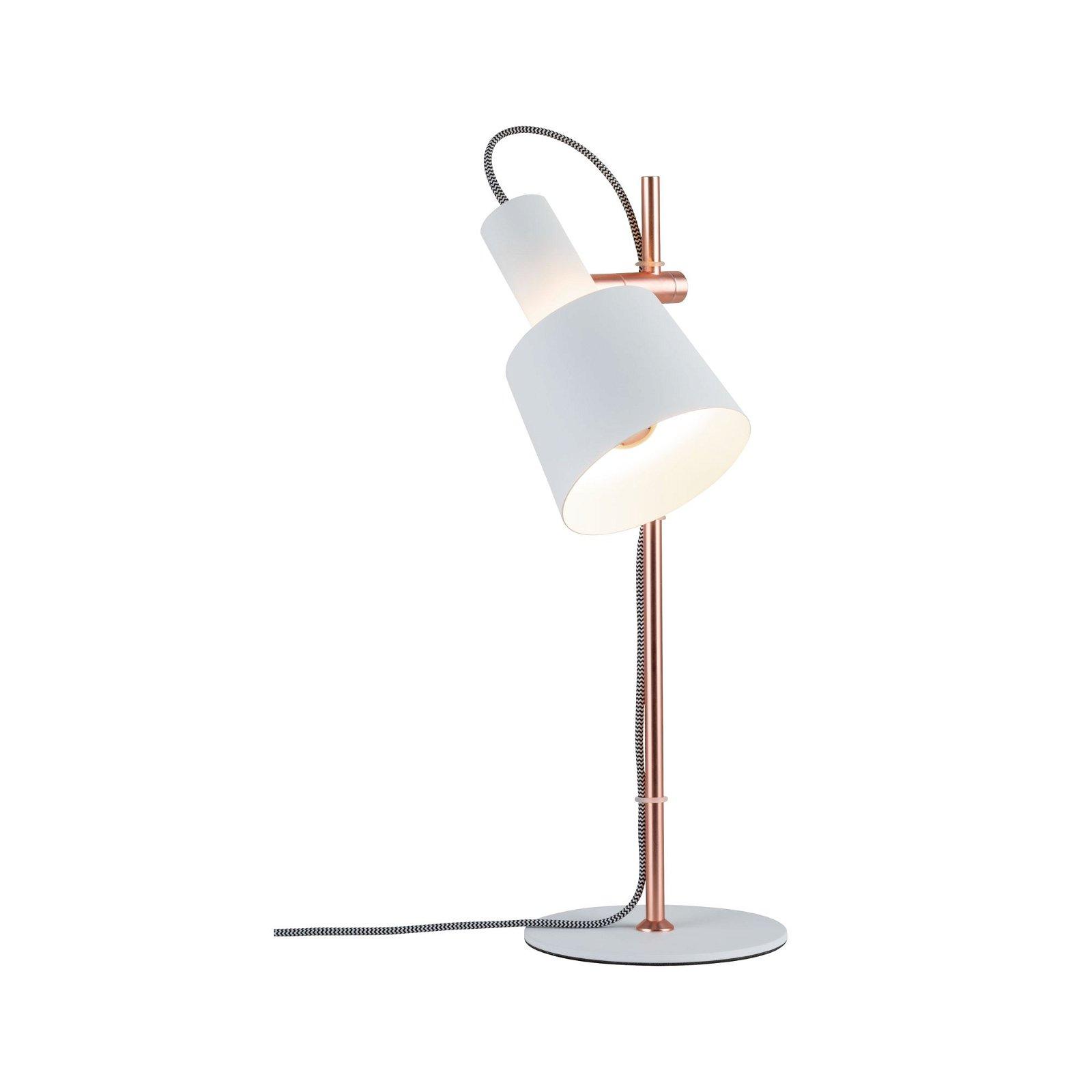 Neordic Table luminaire Haldar E14 max. 20W White/Matt copper Metal
