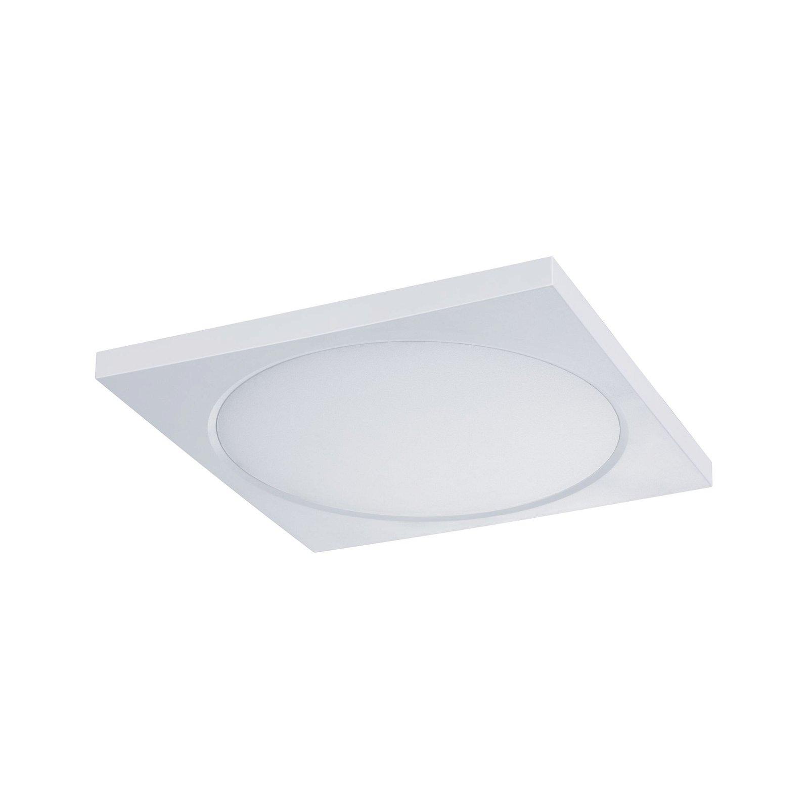Panneau encastrable LED WarmDim IP65 carré 9 W Blanc