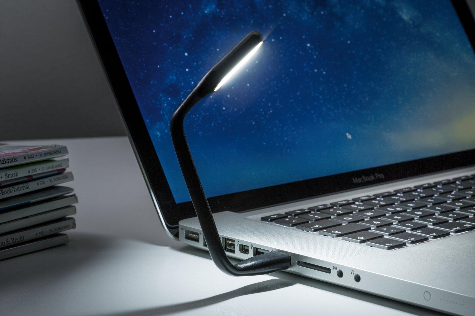 USB Leuchte 220x18mm 0,5W 50lm 6500K Schwarz