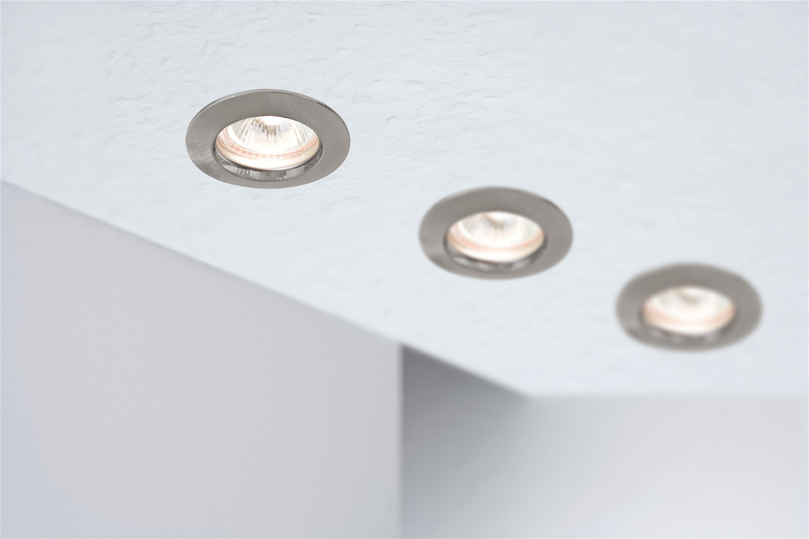 Premium Spot encastré LED IP44 rond 79mm GU10 max. 50W 230V Acier brossé
