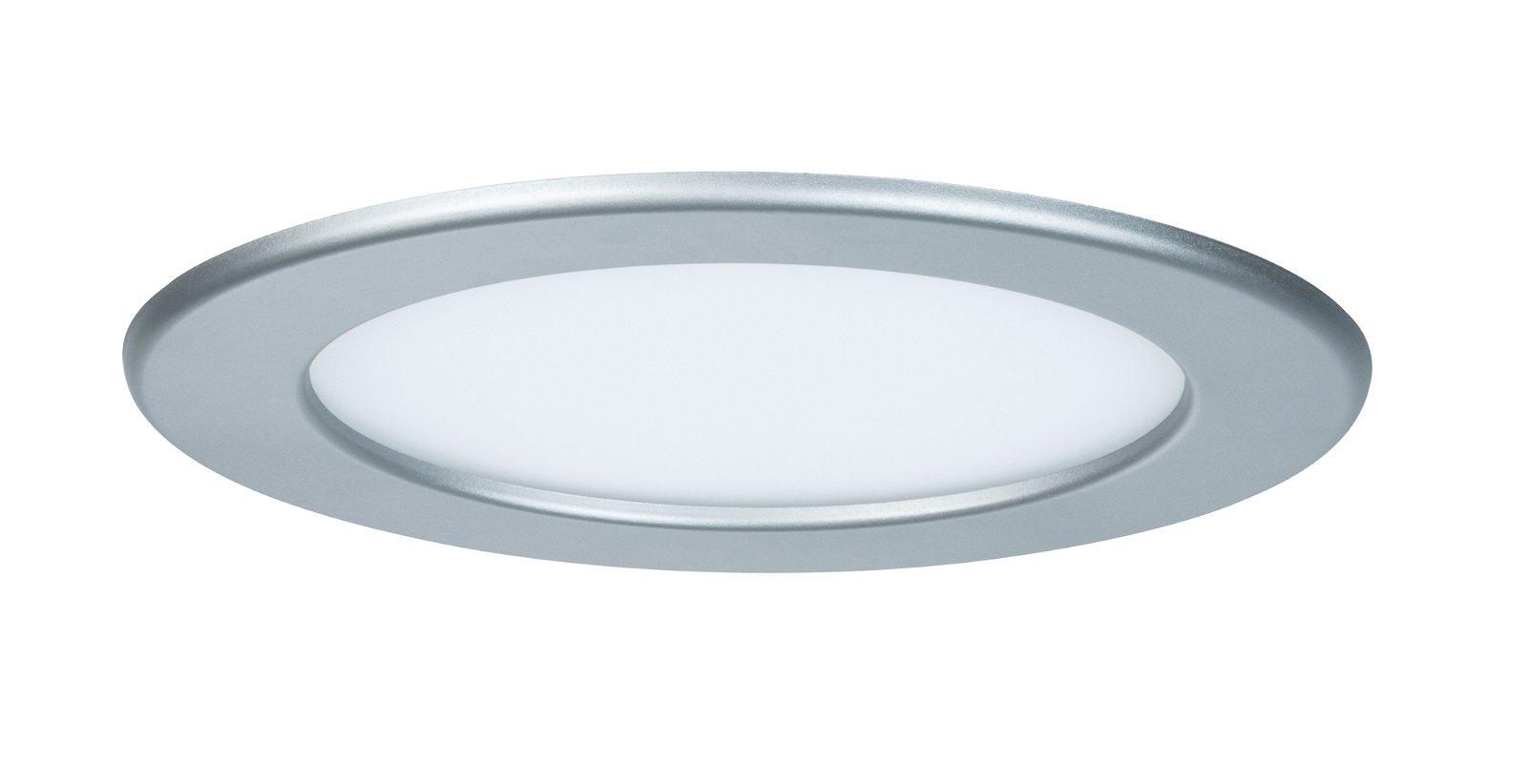 Panneau encastré LED IP44 rond 170mm 4000K Chrome mat